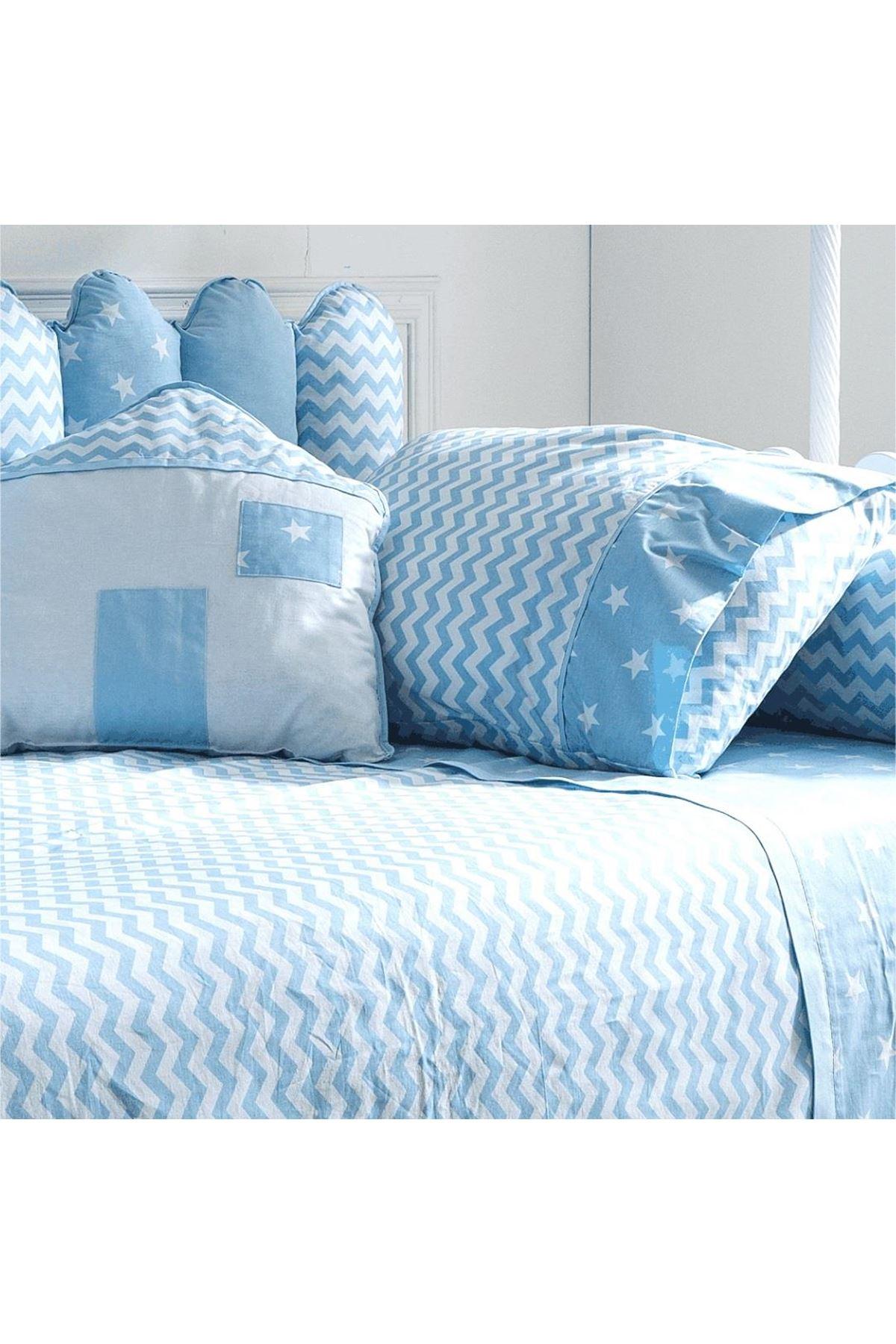 Soft Baby My Home Montessori Uyku Seti 90x190 Blue