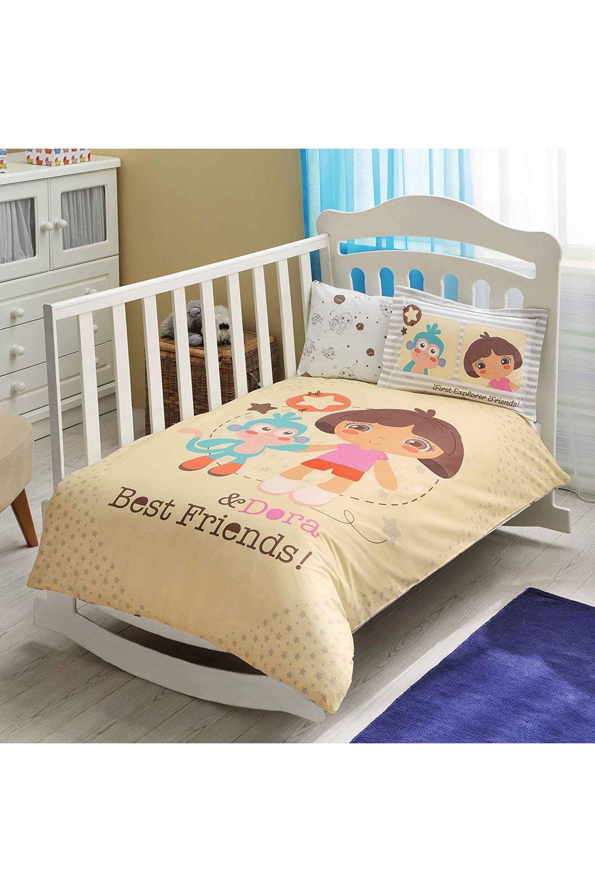 Taç Lisanslı Bebek Nevresim Takımı Dora Best Friend Baby