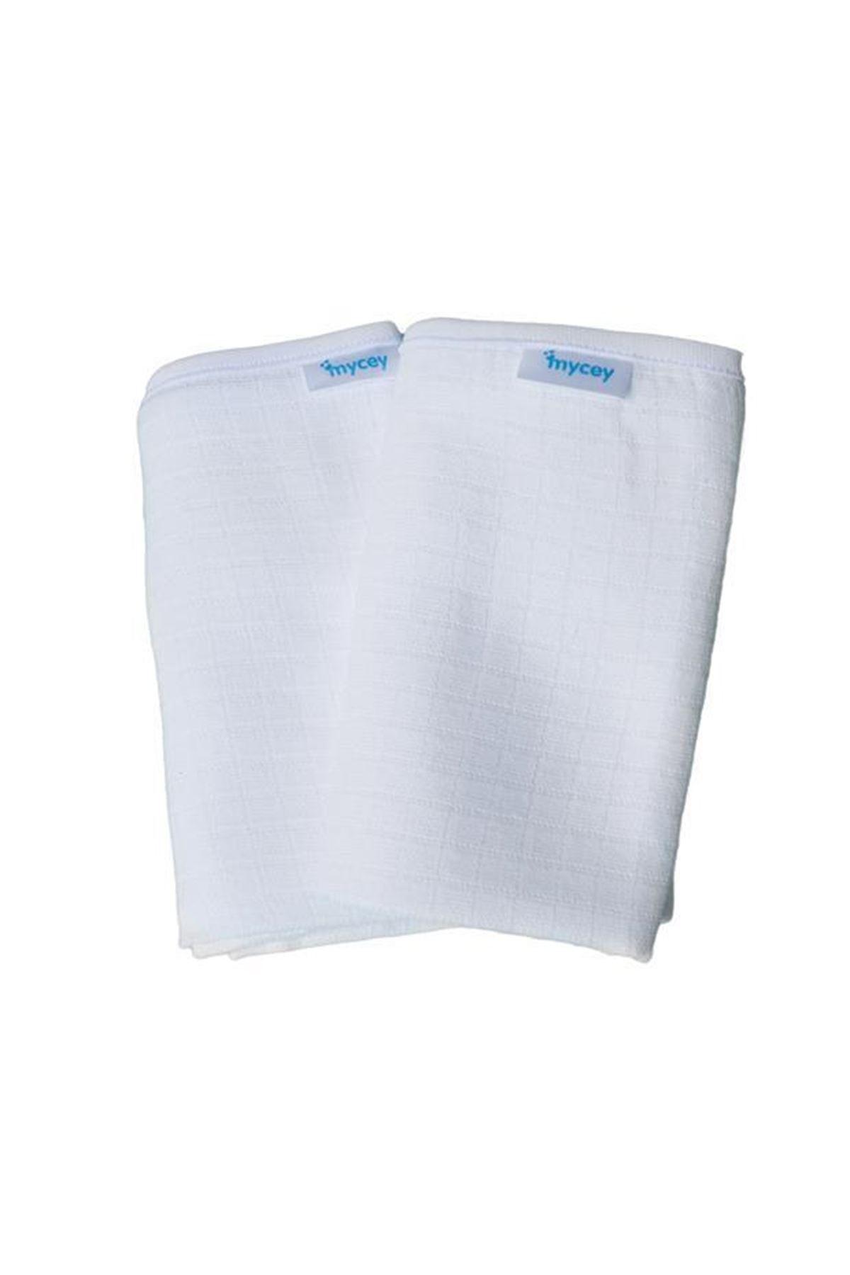 Mycey Çok Amaçlı Örtü Müslin Kumaş 2li Set Beyaz