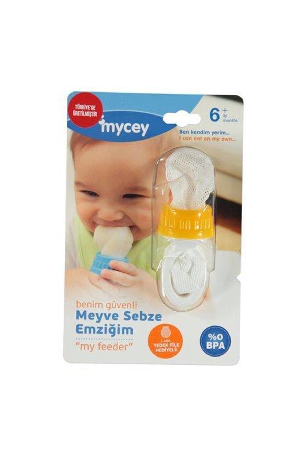Mycey Güvenli Meyve Sebze Emziği MyFeeder Turuncu