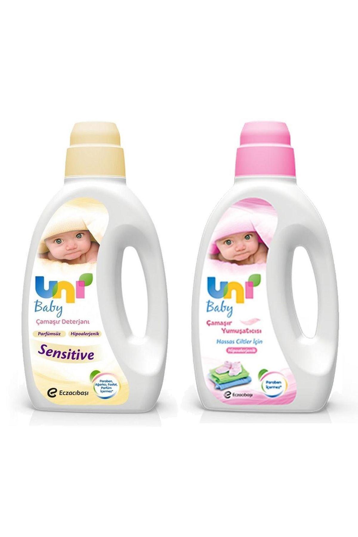 Uni Baby Sensitive Çamaşır Deterjanı 1500 ml + Çamaşır Yumuşatıcısı 1500 ml