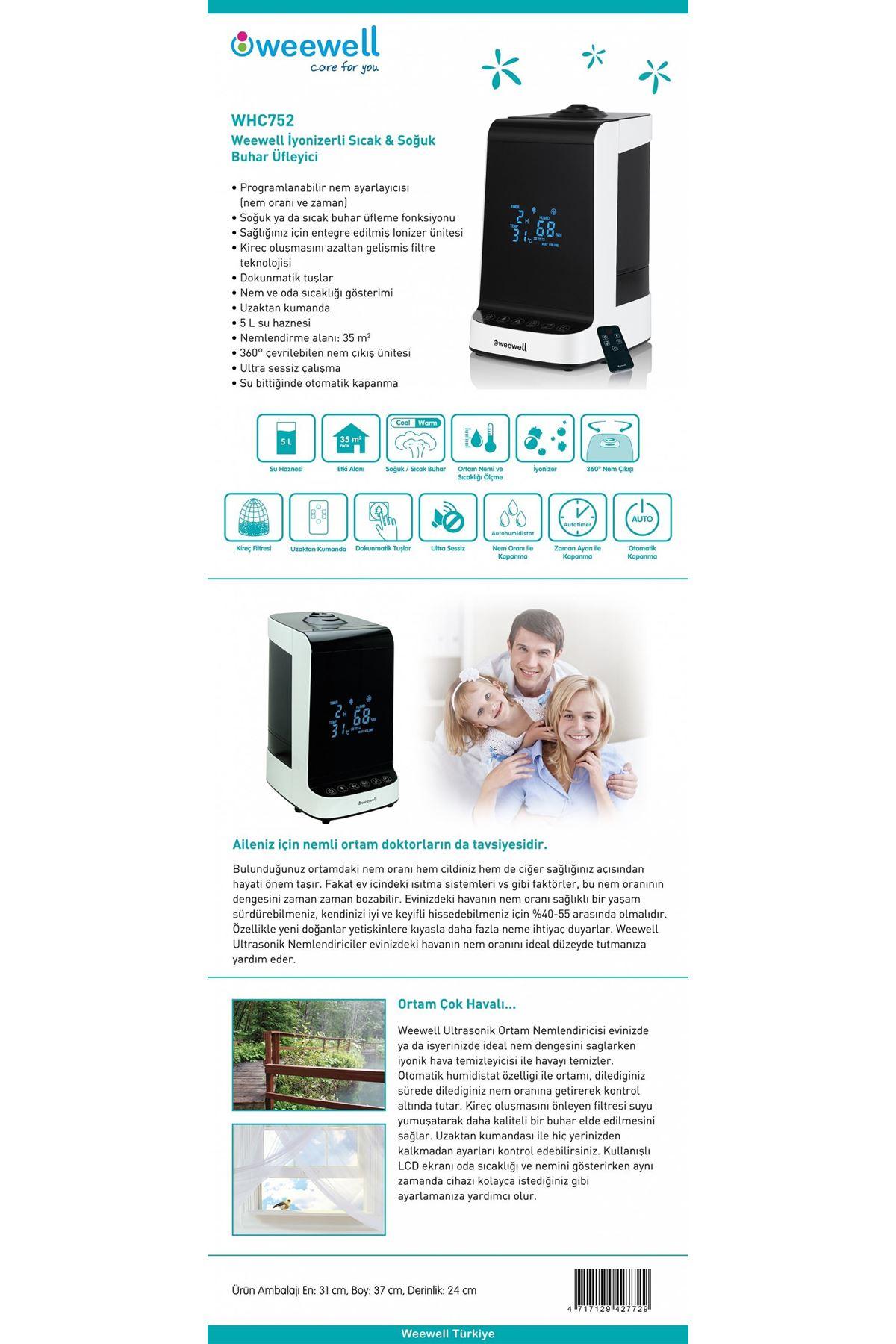 Weewell WHC752 Sıcak Soğuk Buhar Makinesi