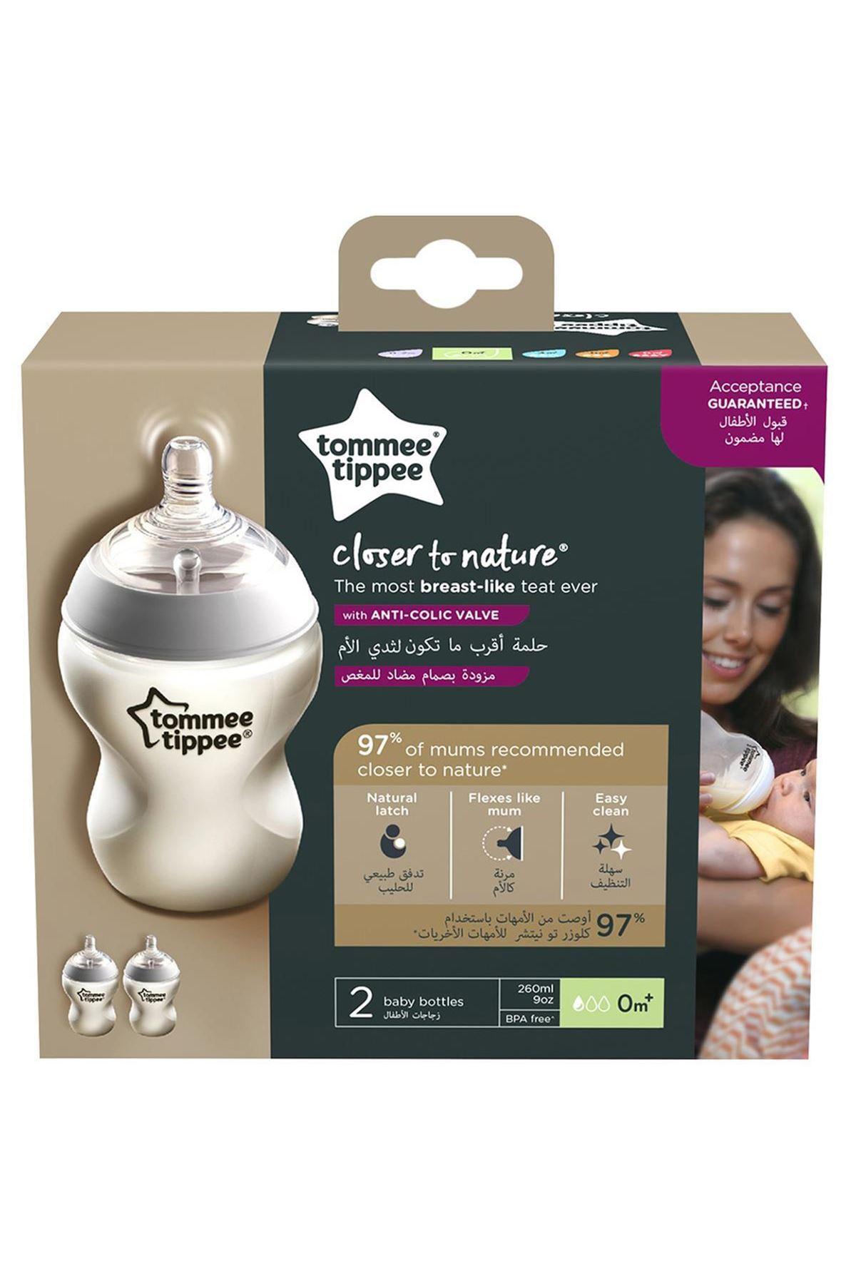 Tommee Tippee PP Closer To Nature Biberon 2li 260 ml Beyaz