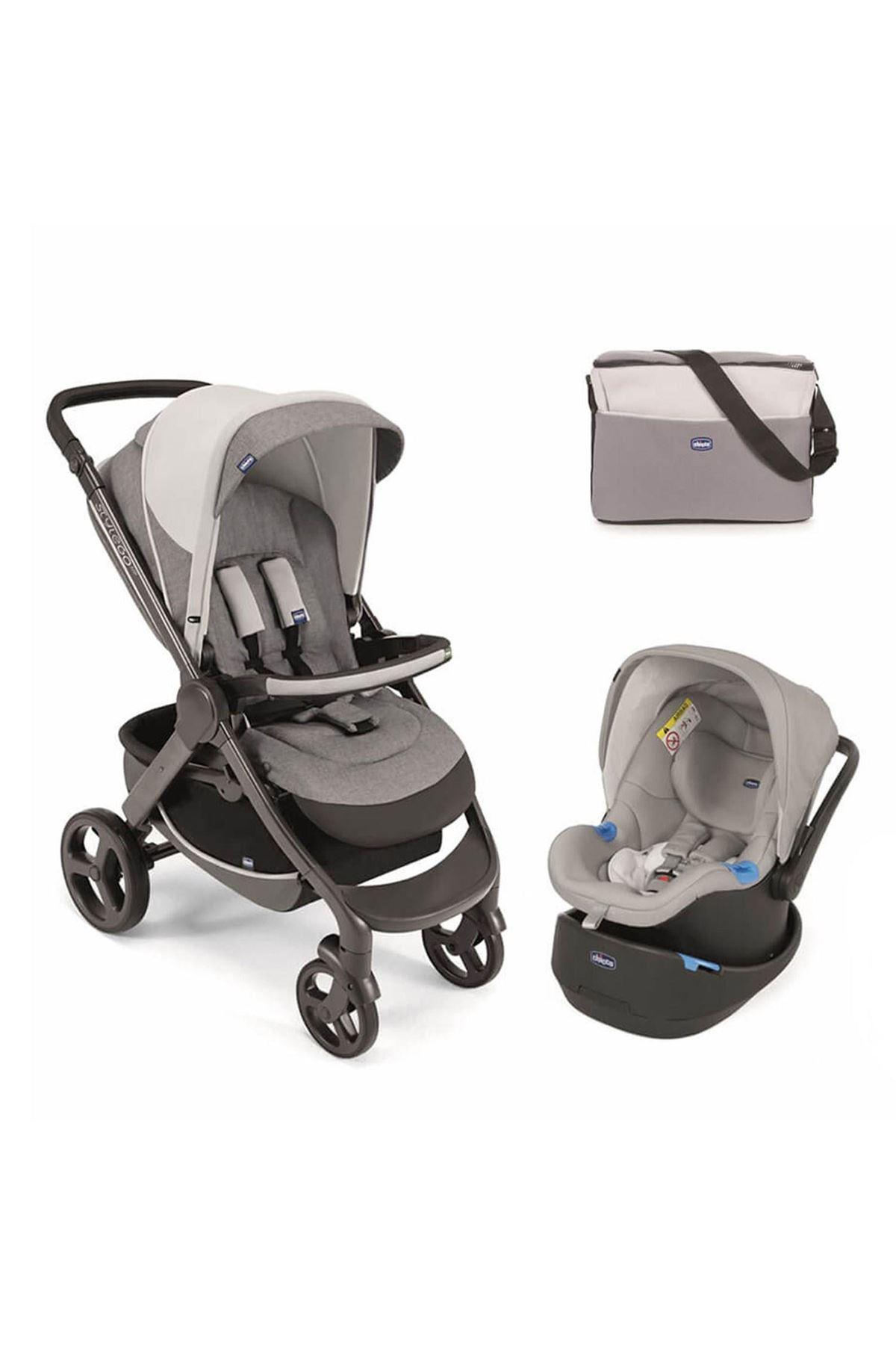 Chicco Duo Style Go Up Travel Sistem Bebek Arabası Beige