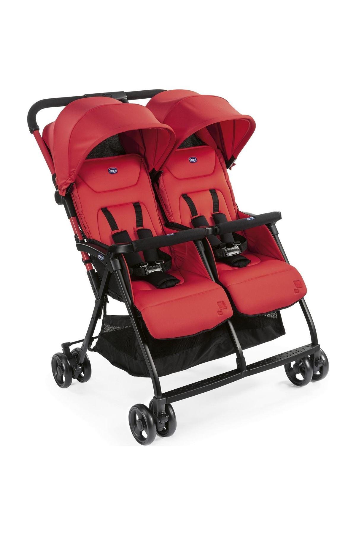 Chicco Ohlala 2 Twin Ultra Hafif İkiz Bebek Arabası Paprika