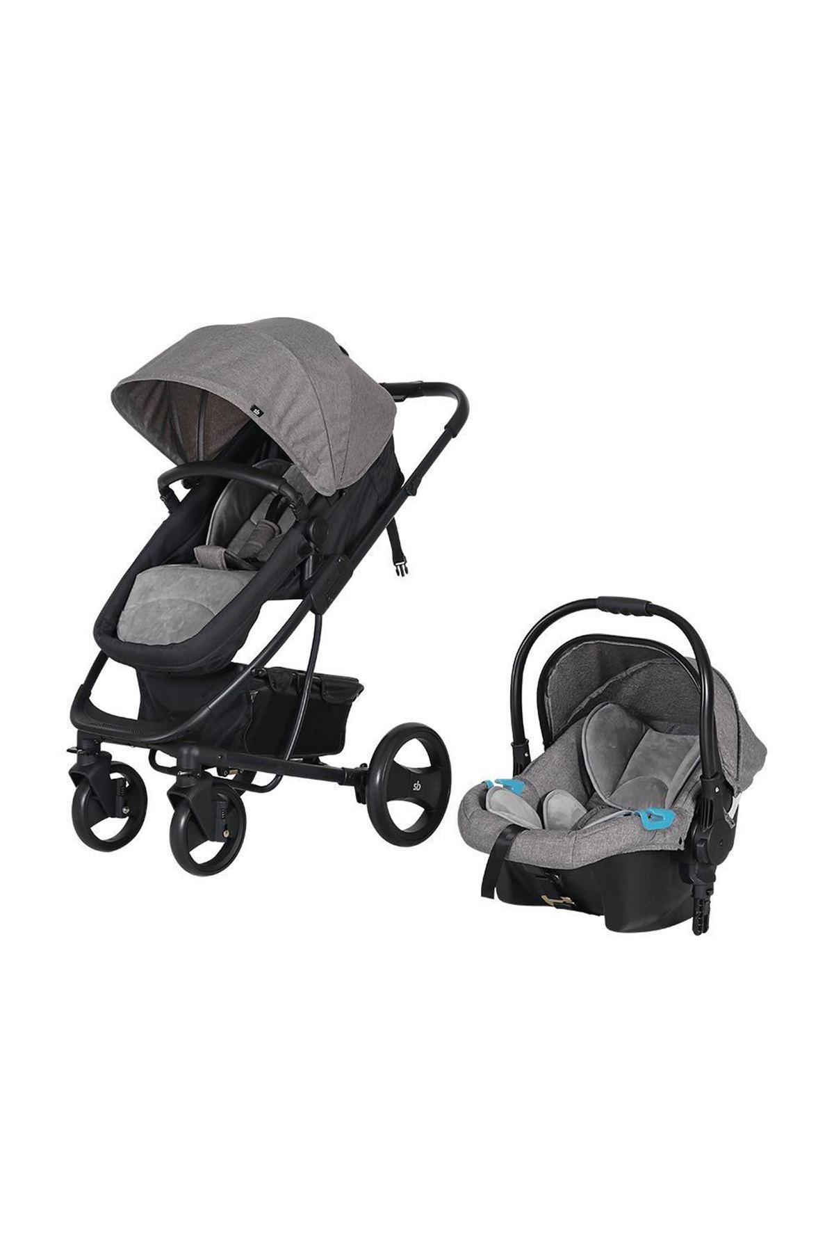 Sunny Baby 9023 İcon Travel Sistem Bebek Arabası Gri