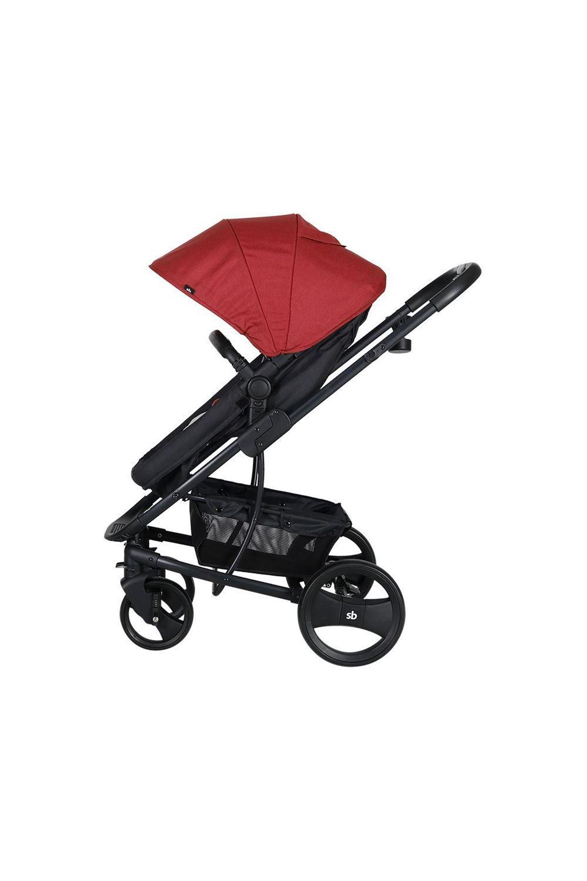 Sunny Baby 9023 İcon Travel Sistem Bebek Arabası Kırmızı