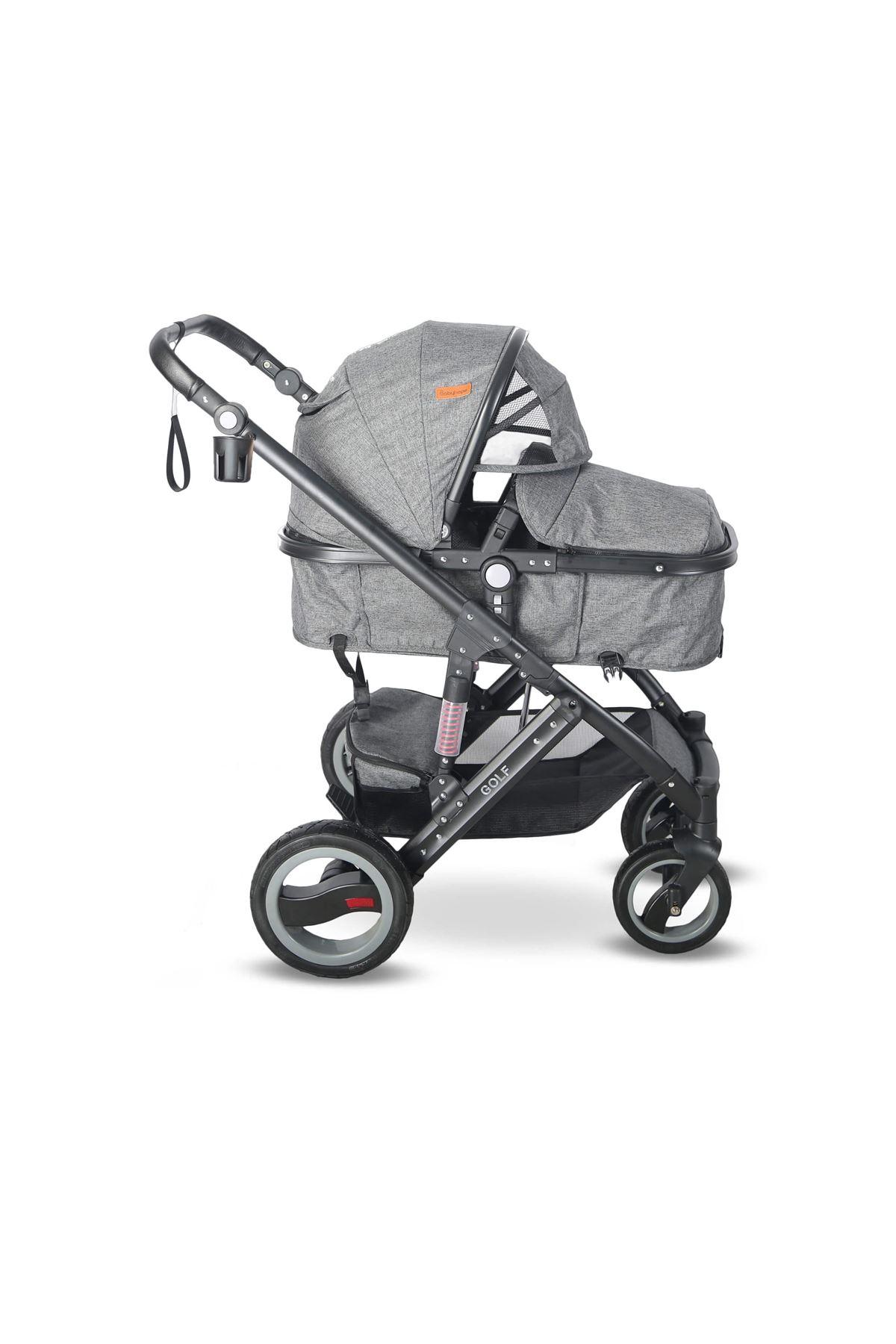 Babyhope BH-3009 Golf Travel Sistem Bebek Arabası Gold