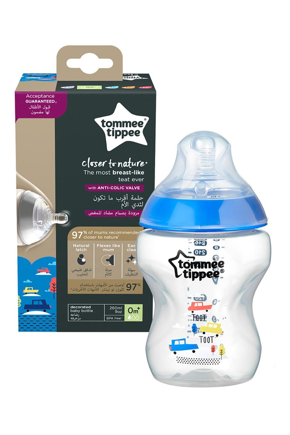 Tommee Tippee PP Closer To Nature Biberon 260 ml Mavi