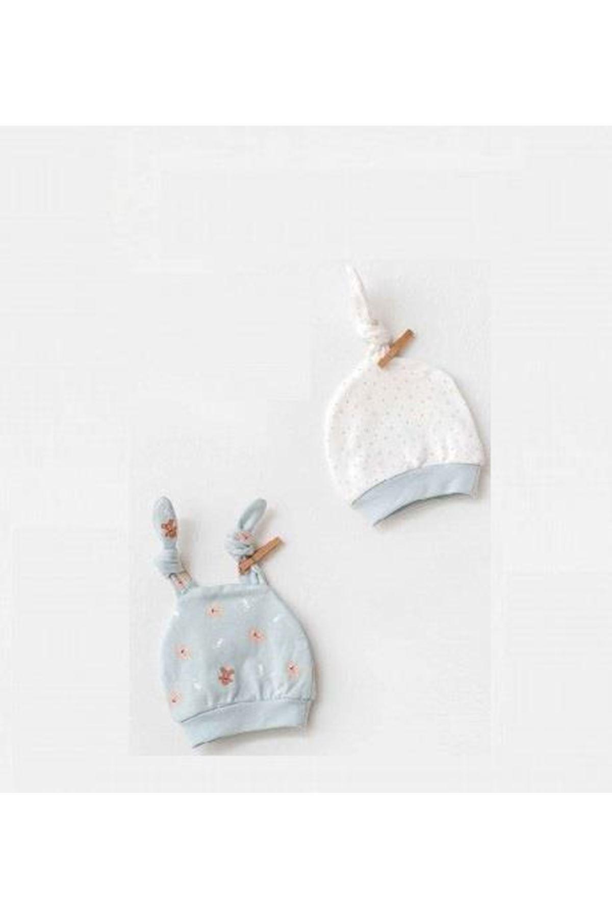 Andywawa AC21310 Natura Wawa Baby 2li Bebek Şapka Mint
