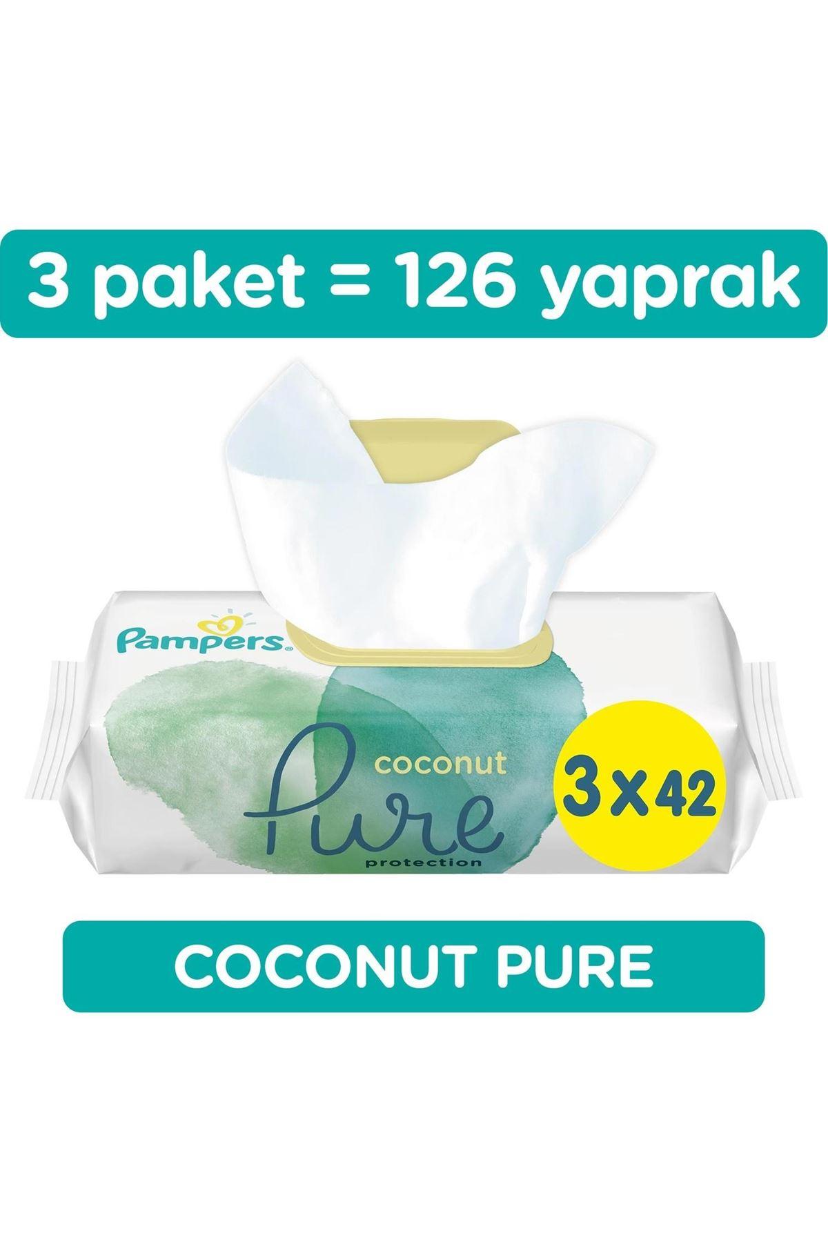 Prima Pure Coconut Islak Havlu Mendil 3lü 126 Yaprak