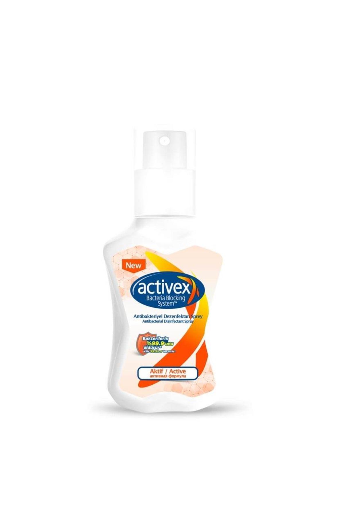 Activex Antibakteriyel Dezenfektan Sprey Aktif 100 ml