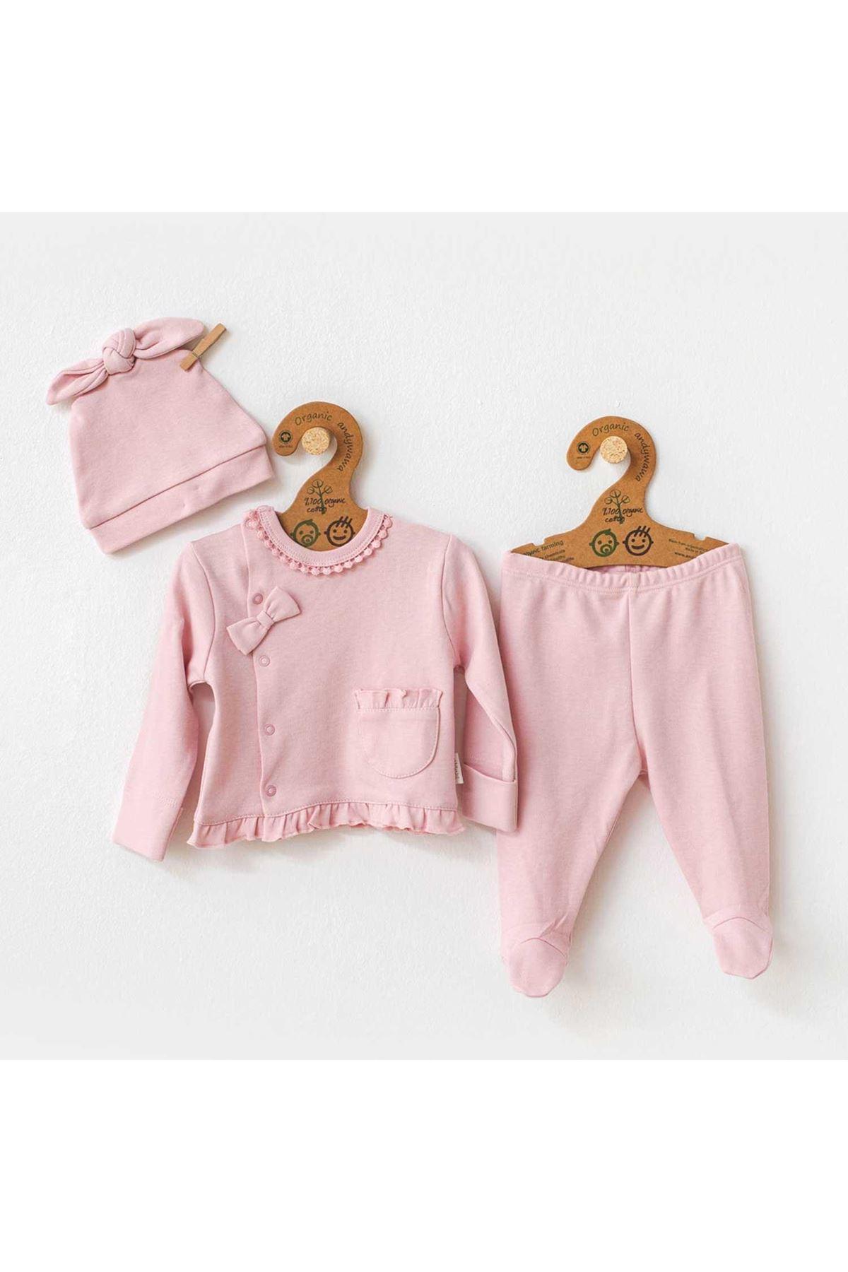 Andywawa AC21204 Natura Wawa 3lü Bebek Takım Pink