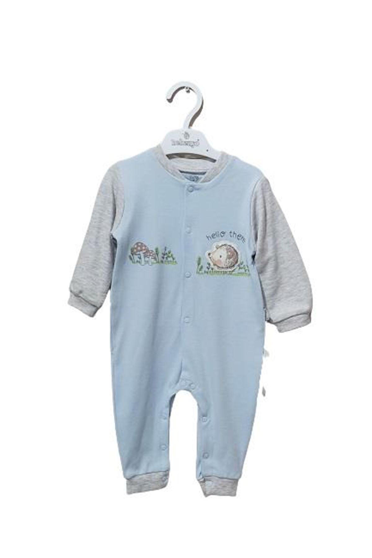 Bebengo 3035 Kırpılı Bebe Tulum Mavi