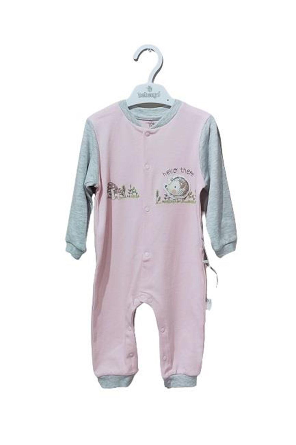 Bebengo 3035 Kırpılı Bebe Tulum Pembe