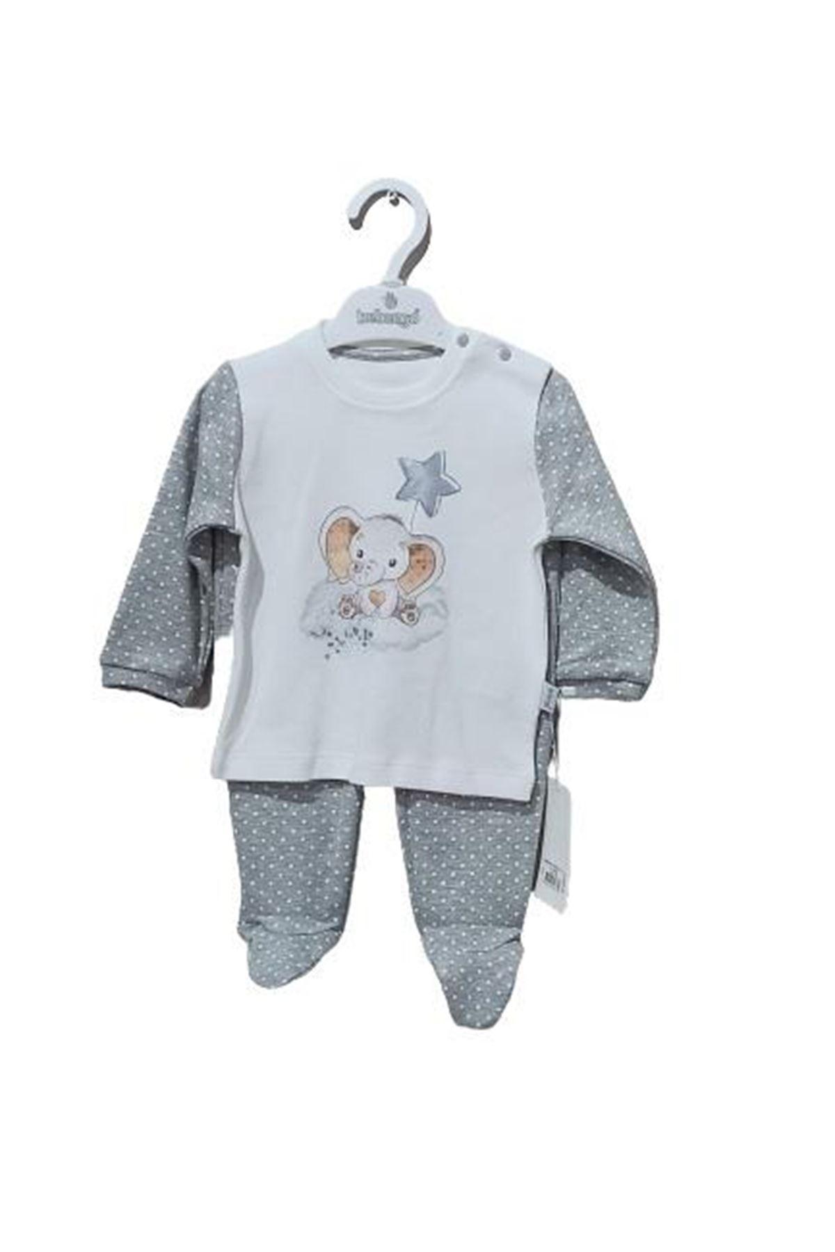 Bebengo 5038 Filli 2li Bebe Takım Gri