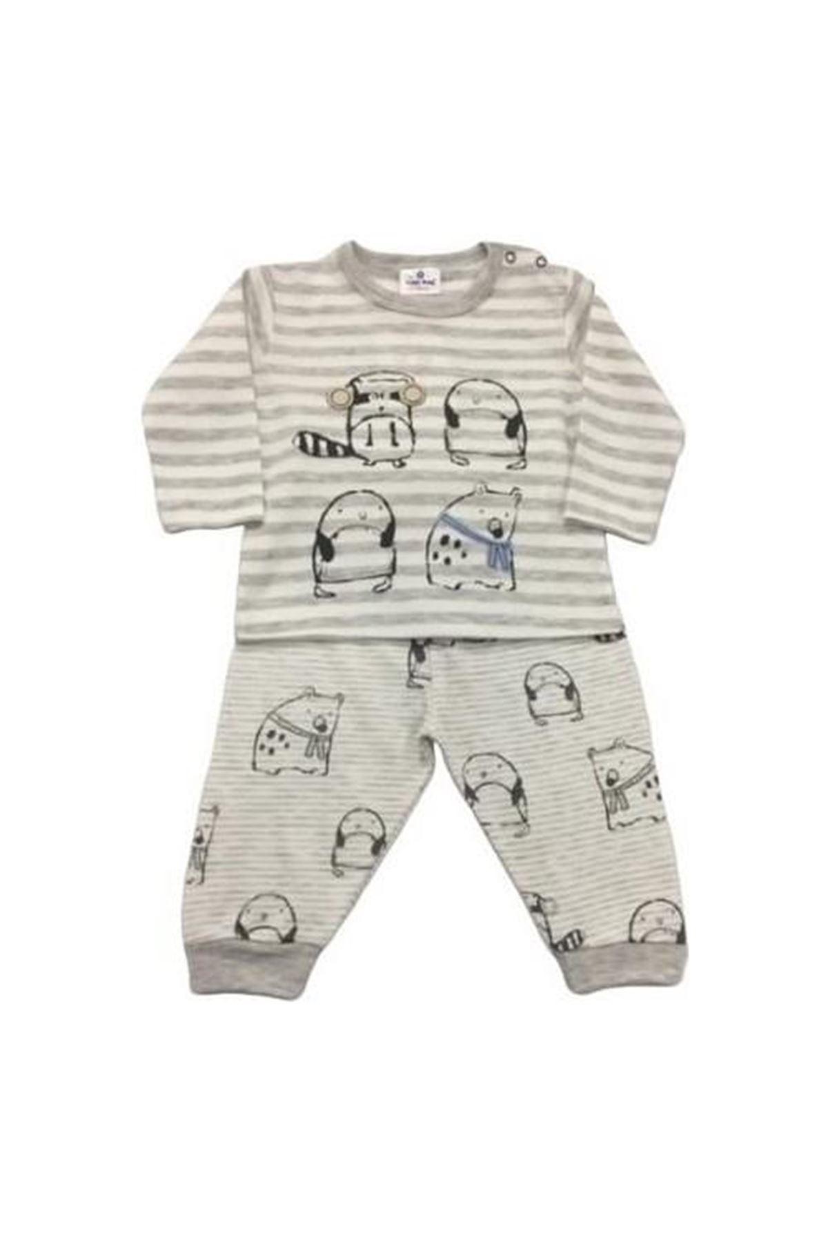 Luggi Baby Polar Animals 2li Bebek Takım Çizgili LG-4541 Karışık Renkli