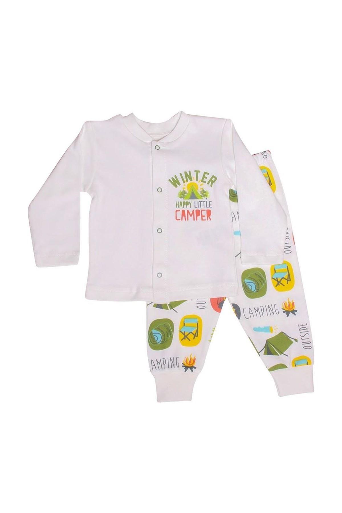 Luggi Baby Bebek Pijama Takımı LG-5007 Karışık Renkli