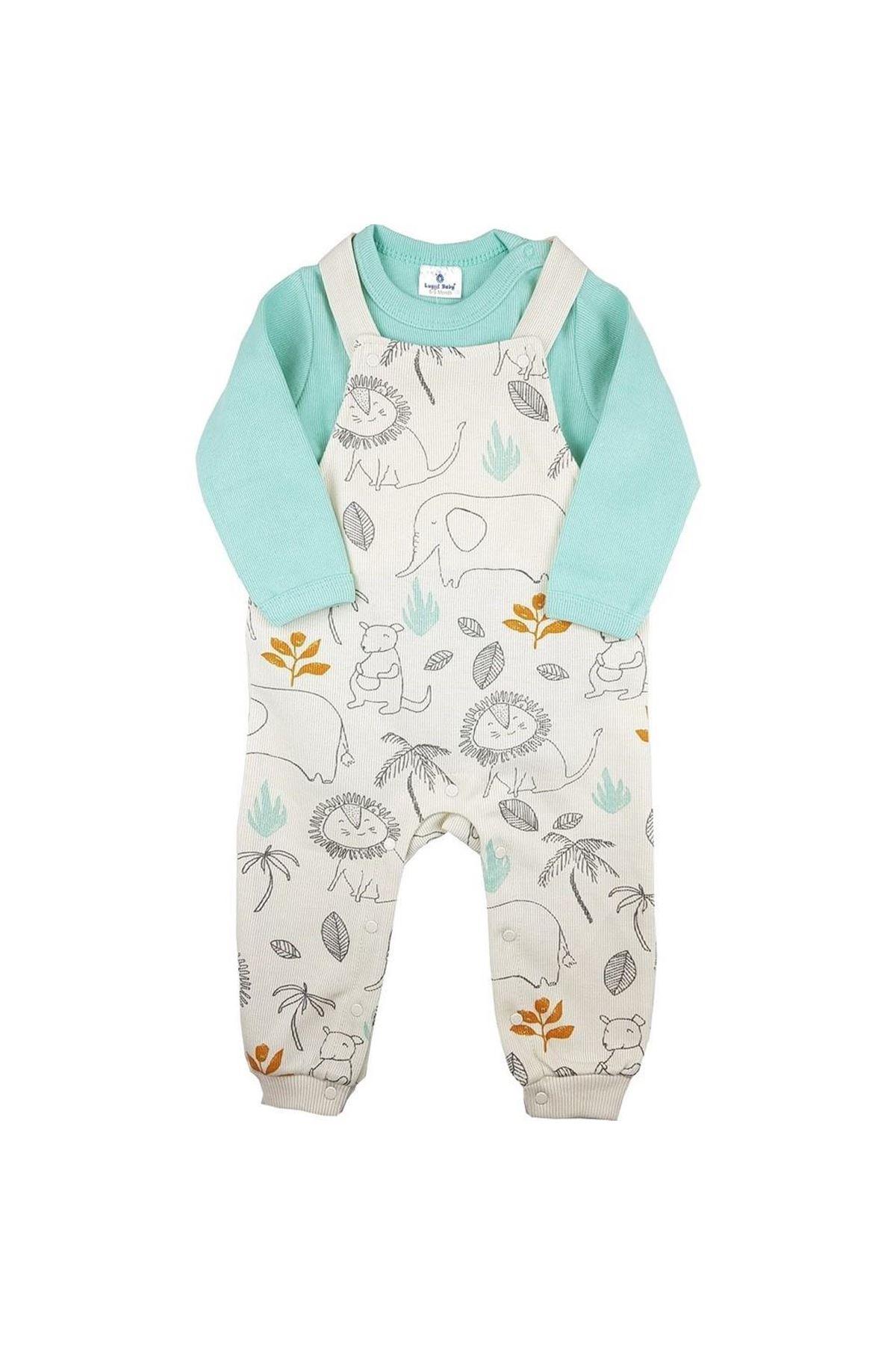 Luggi Baby Selanik Salopet Bebe Takım LG-6108 Karışık Renkli