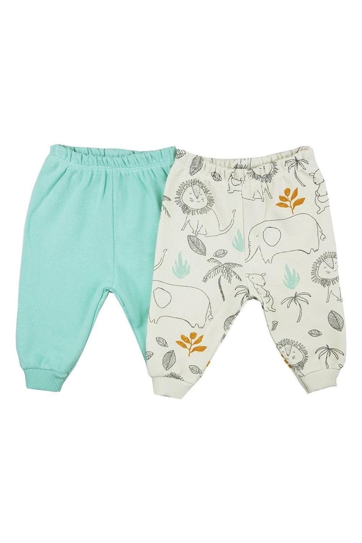Luggi Baby Selanik 2li Tek Alt Pantolon LG-6107 Karışık Renkli