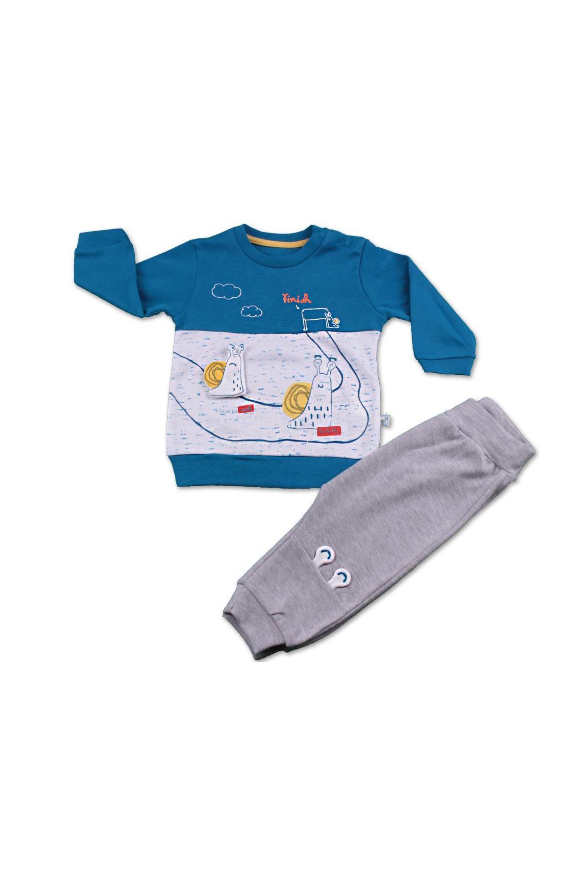 Mymio Baby Salyangoz 2li Bebe Takım 2783 Saks Mavi