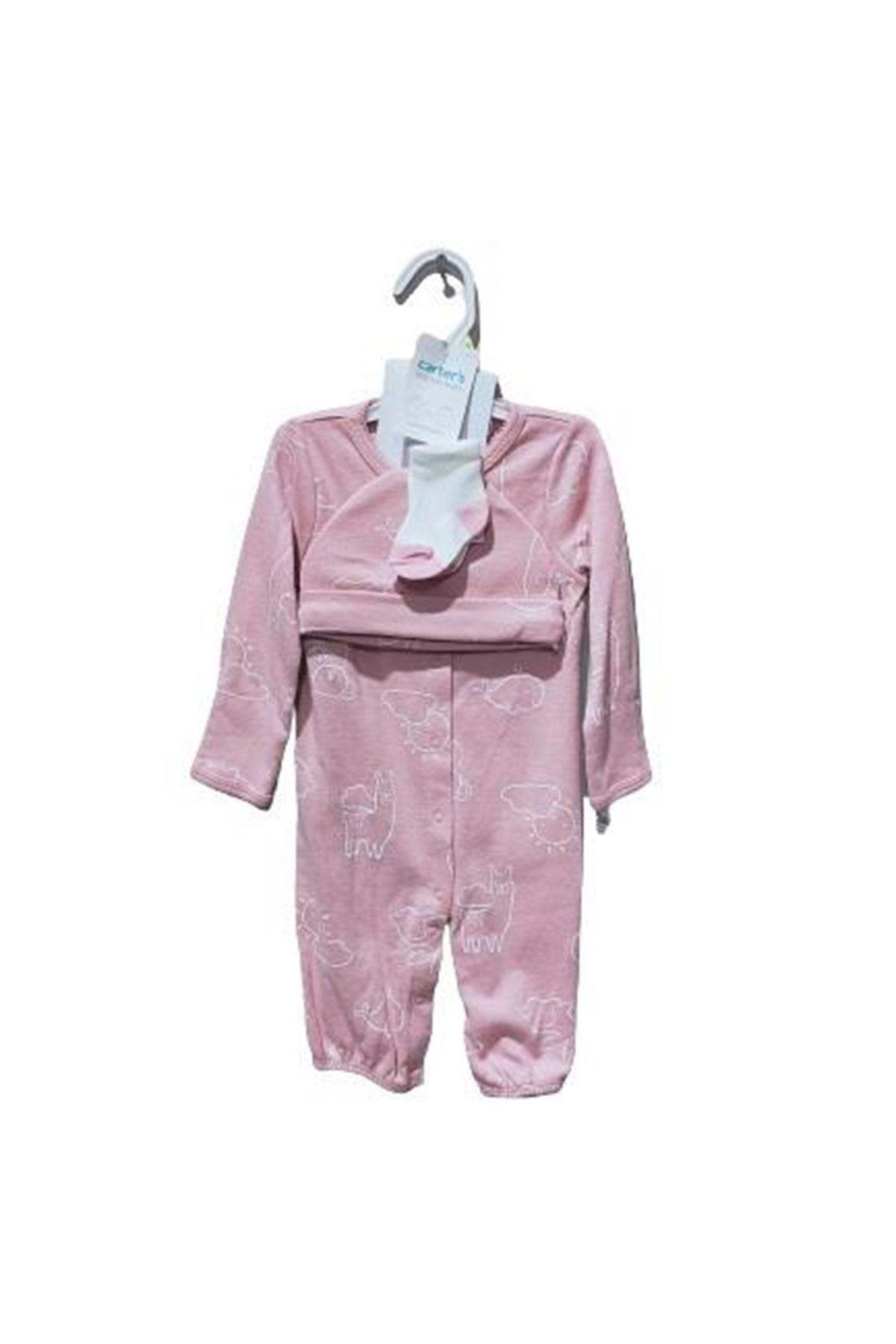 Carter's Kız Bebek 3lü Set 1I724410 Pink