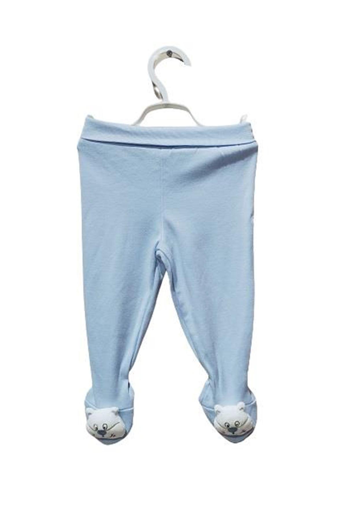 Albimini Minidamla Düz Oyuncaklı Patikli Pantolon 44178 Mavi