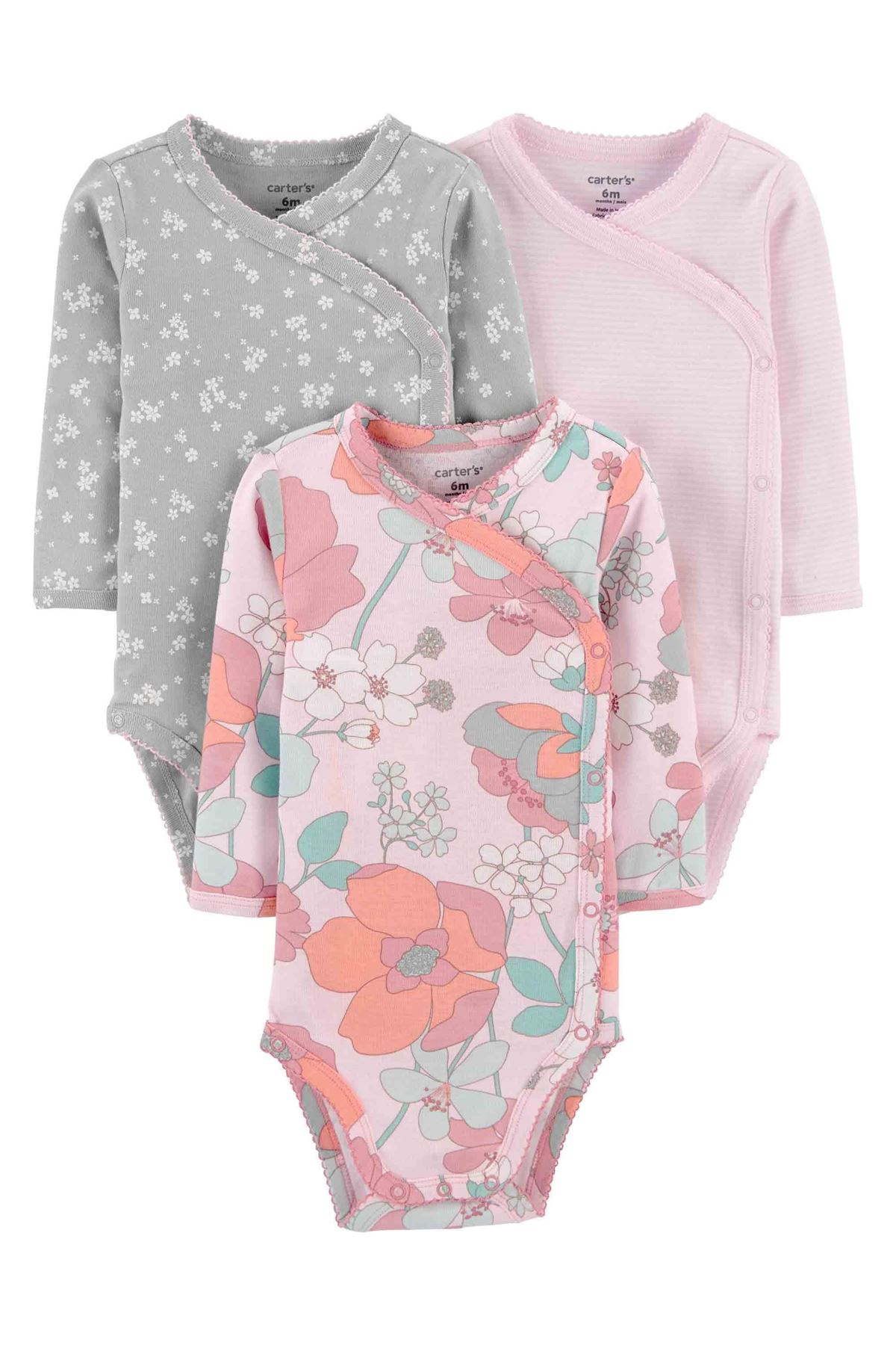 Carter's Layette Kız Bebek 3lü Body 1I711010 Pink