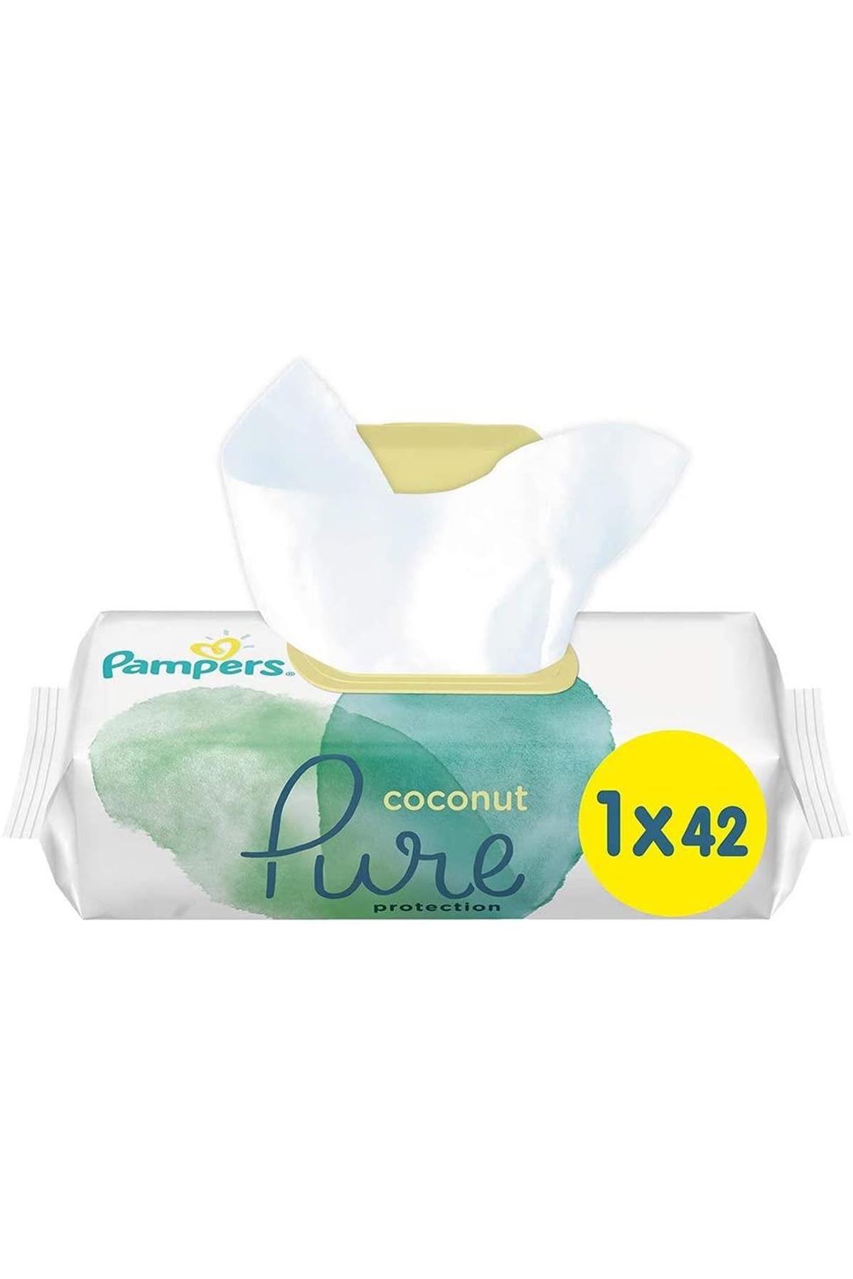 Prima Pure Coconut Islak Havlu Mendil Tekli 42li