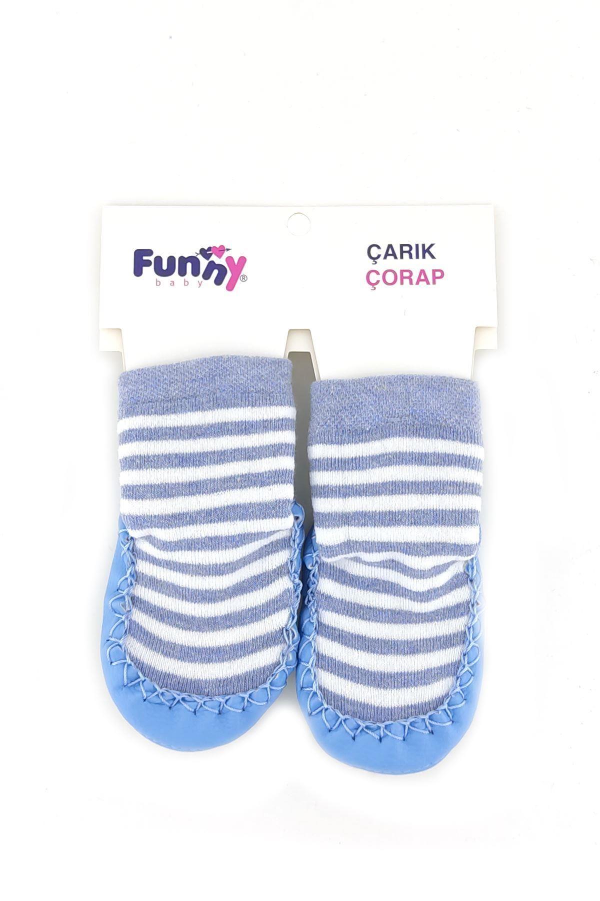 Funny Baby Çarık Çorap 2525 Mavi