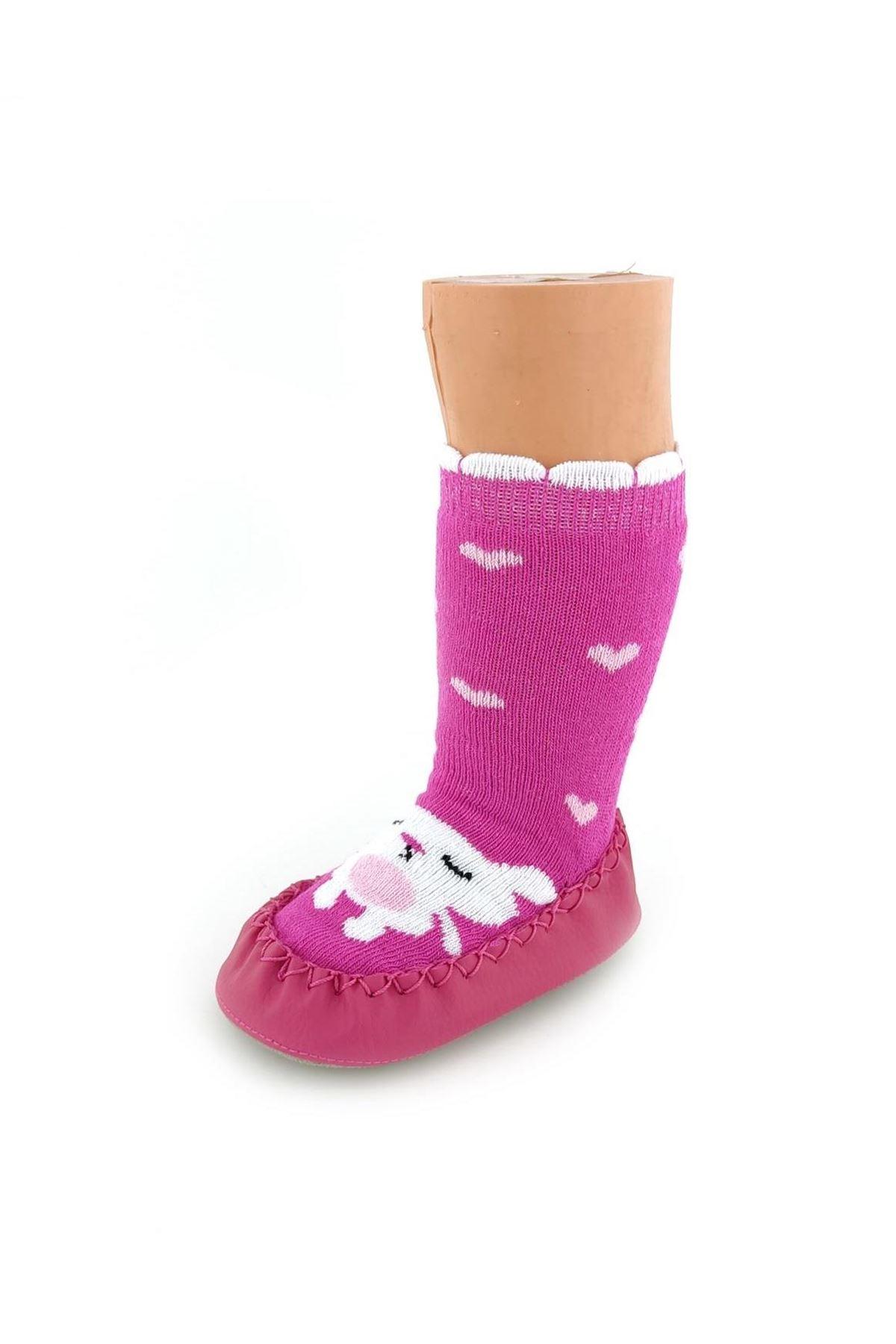 Funny Baby Çarık Çorap 2526 Kalpli