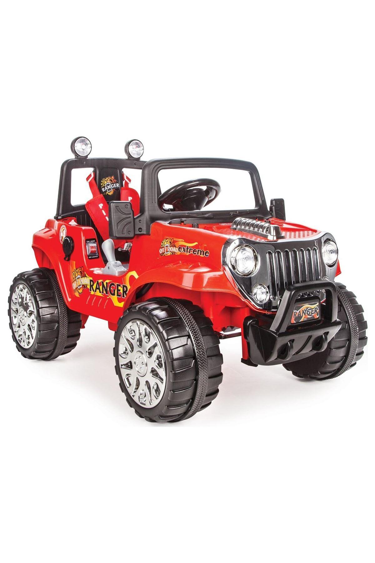 Pilsan Ranger Uzaktan Kumandalı 12V Akülü Araba Kırmızı