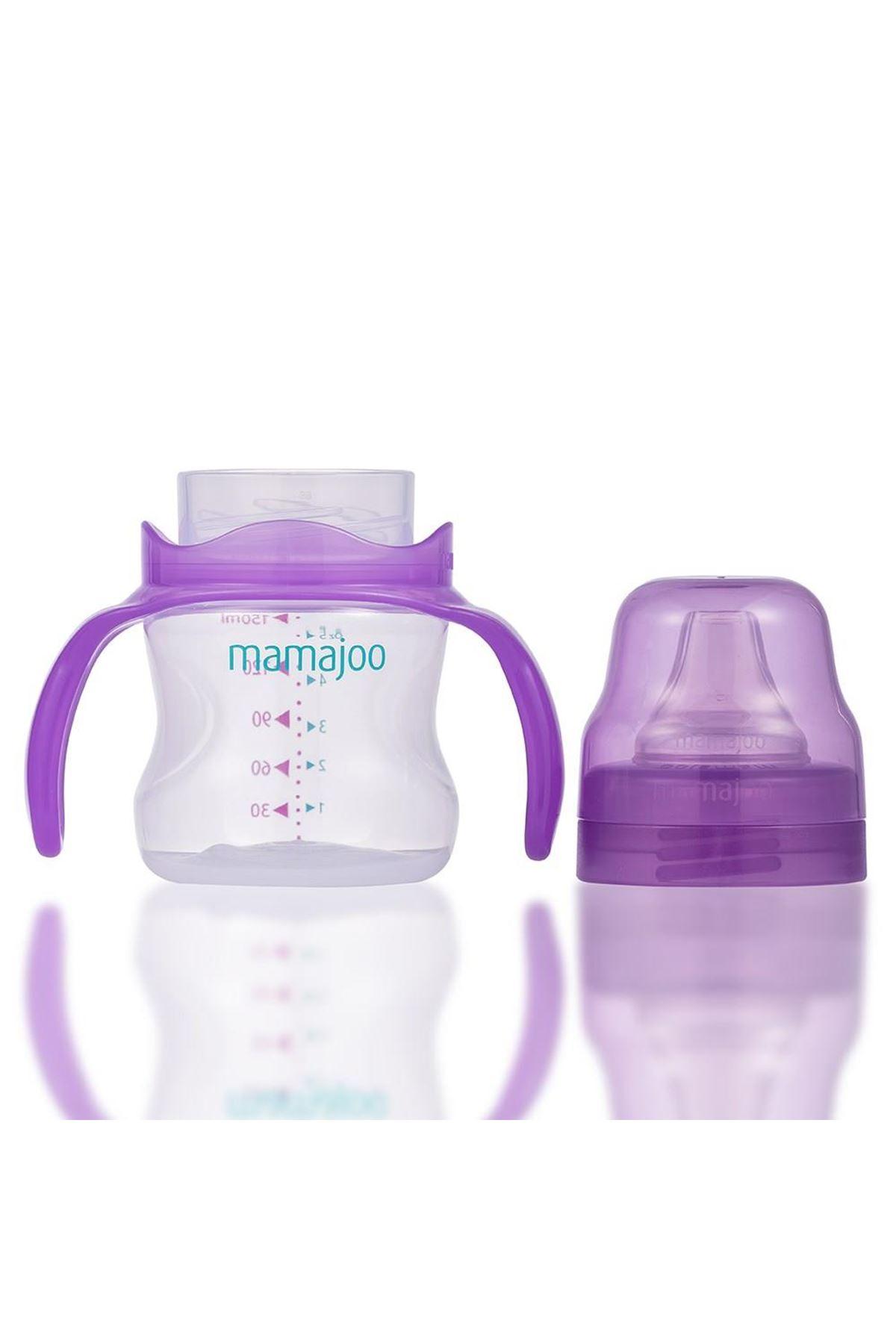 Mamajoo Kulplu Eğitici Bardak 160 ml Mor