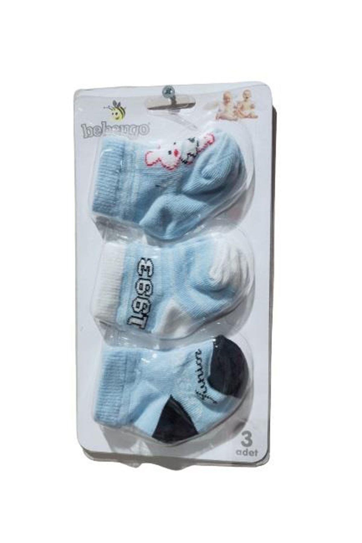 Bebengo 3lü Erkek Soket Çorap 9537 Karışık Renkli
