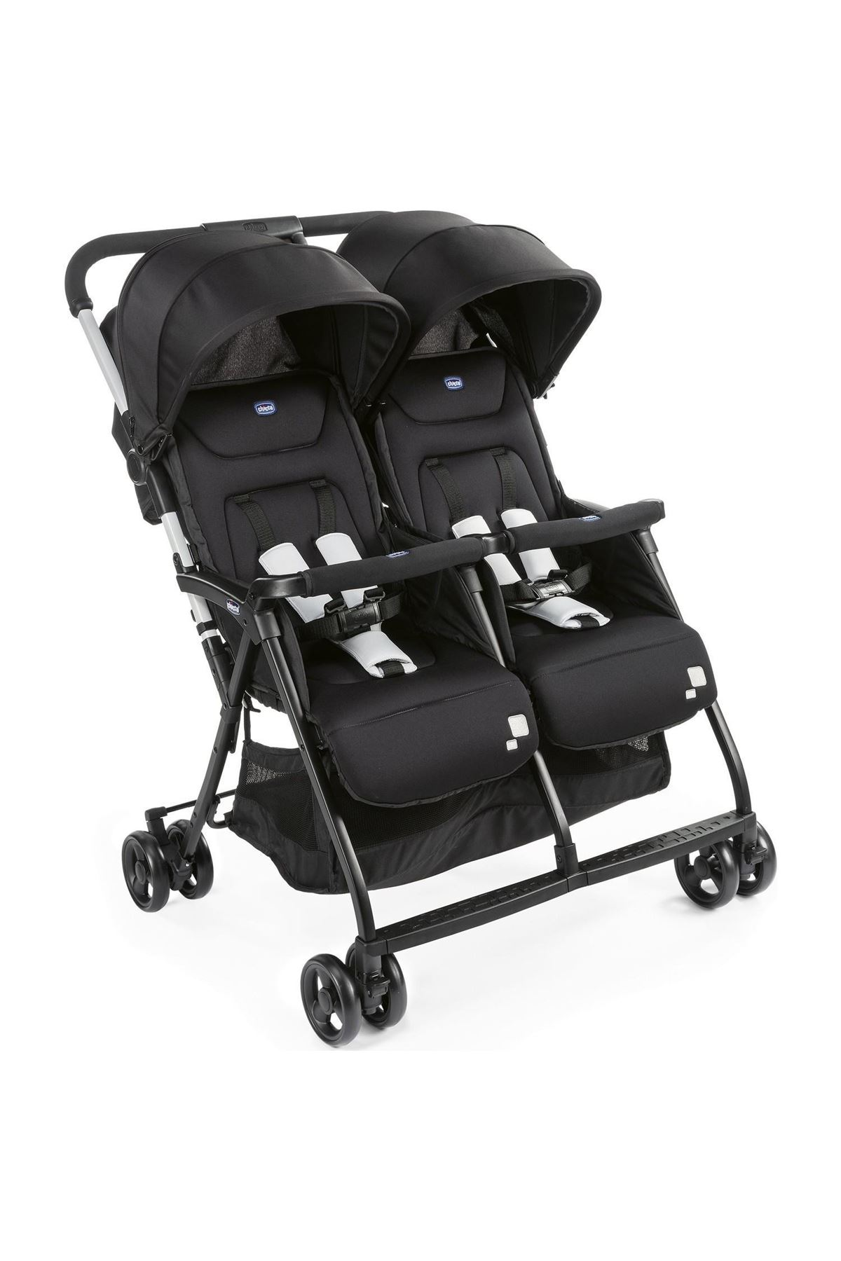Chicco Ohlala 2 Twin Ultra Hafif İkiz Bebek Arabası Black Nigth