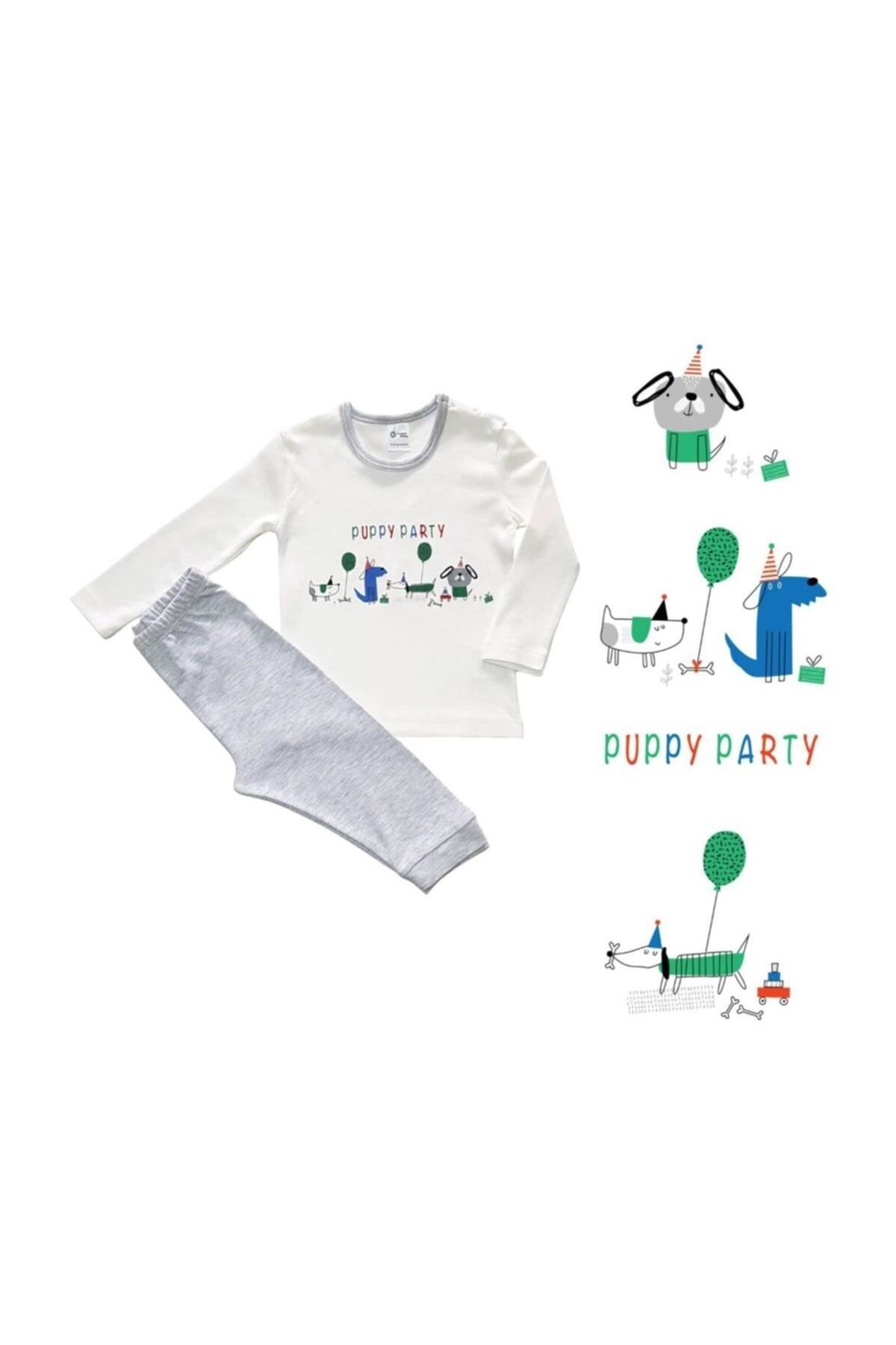 Luggi Baby Party 2li Bebe Takım LG-4845 Karışık Renkli