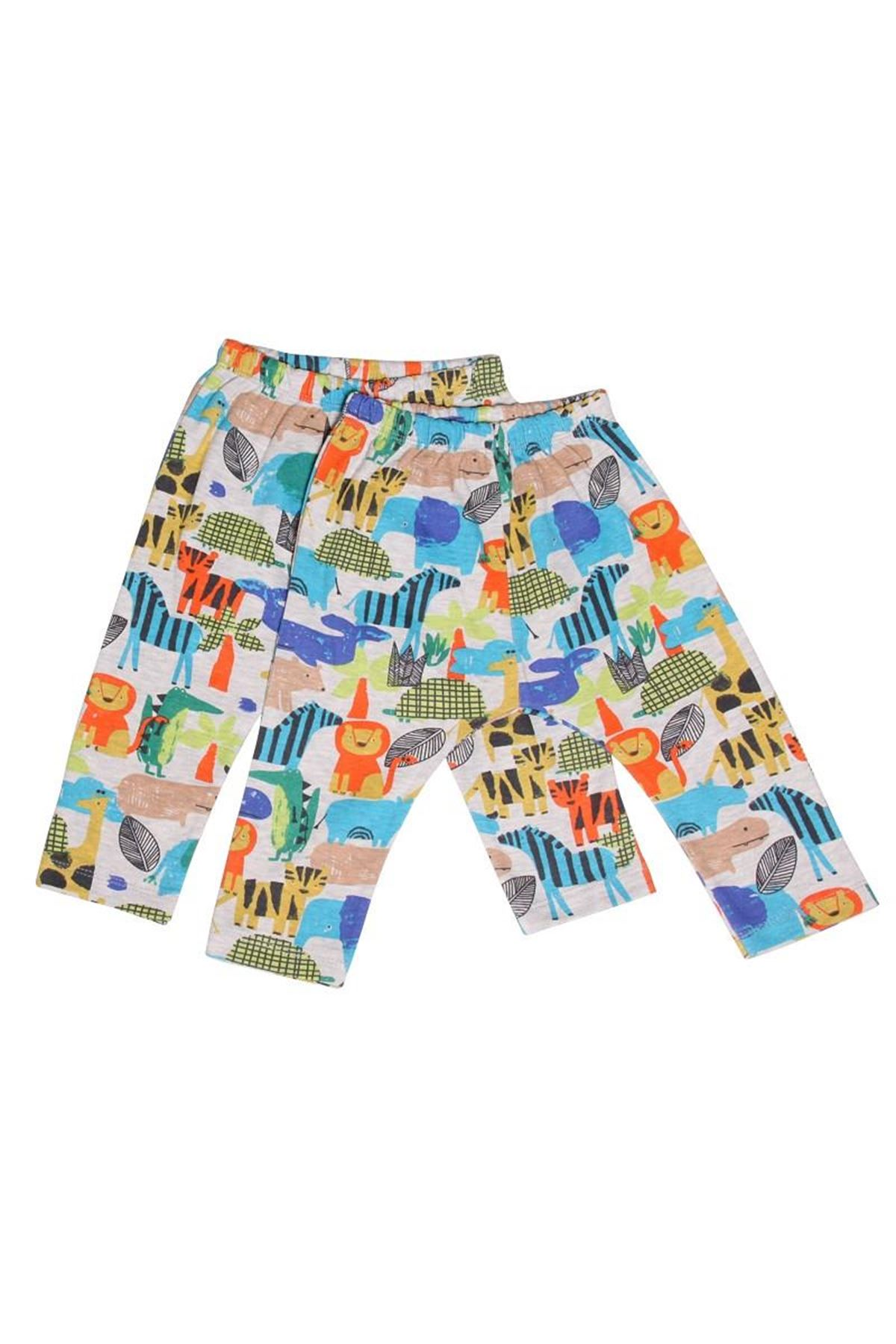Luggi Baby Cute Animals 2li Bebek Pantolon LG-4578 Karışık Renkli