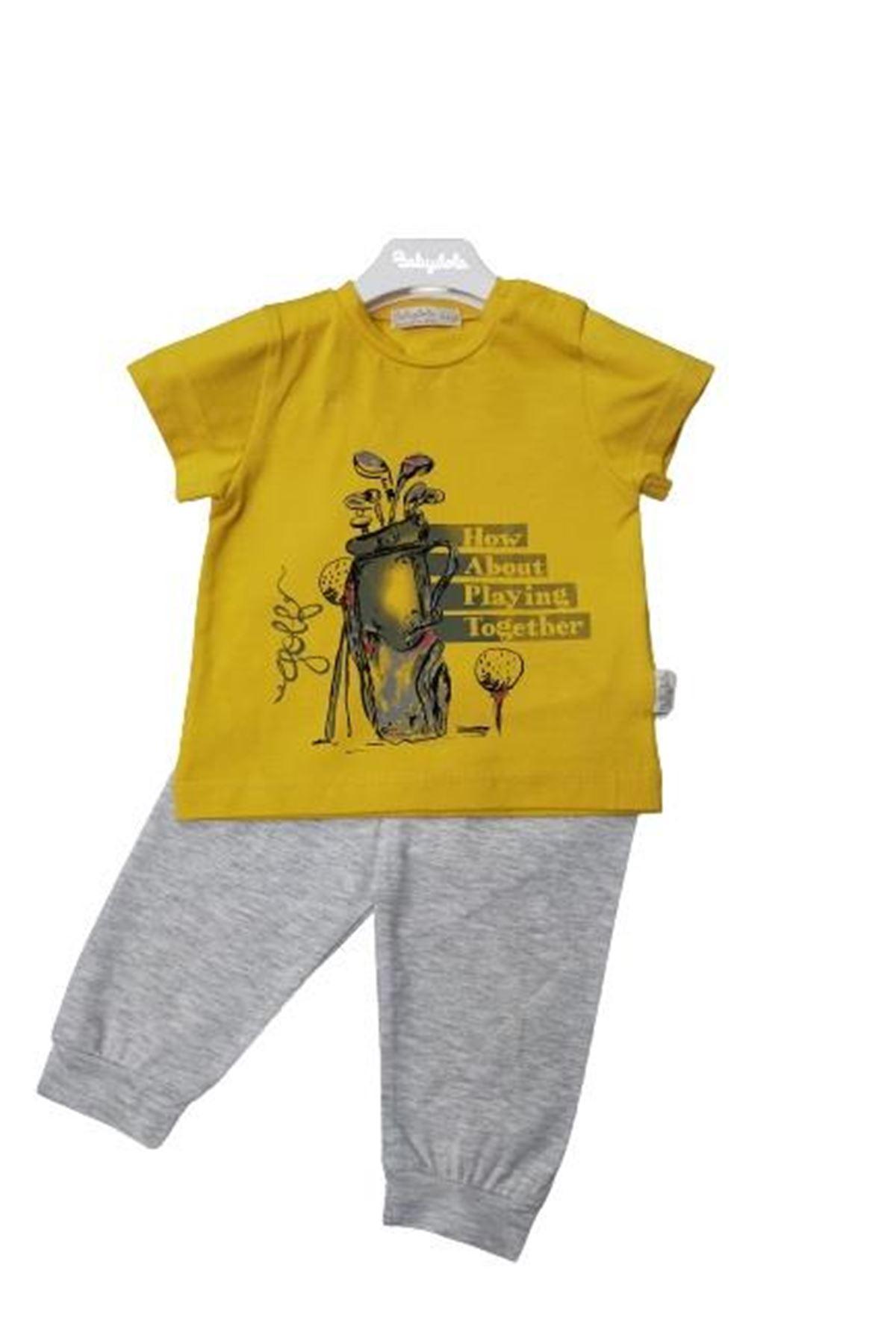 Babydola 11815 2li Takım Grey Yellow