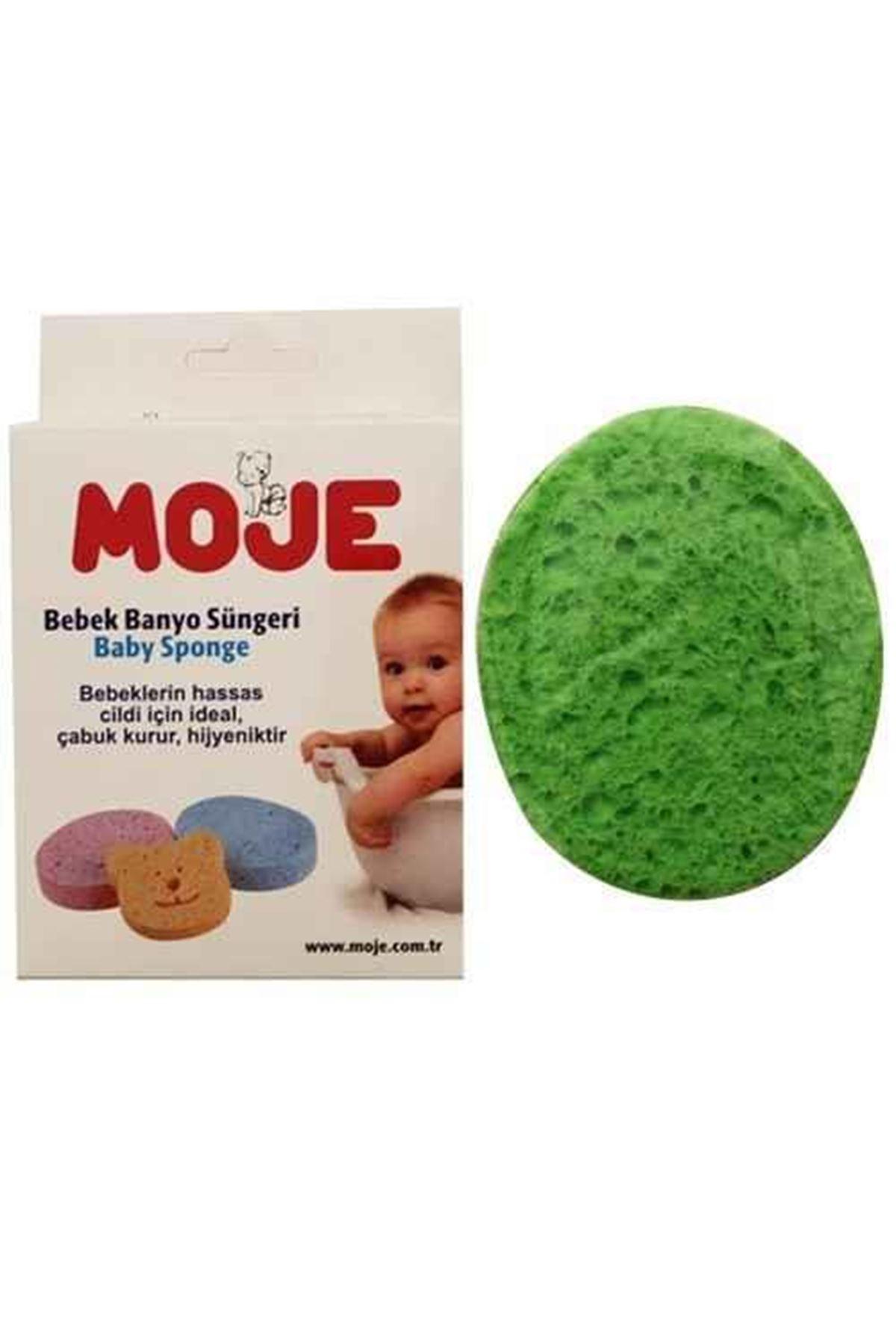 Moje Selülozik Bebek Banyo Süngeri Mavi Yeşil