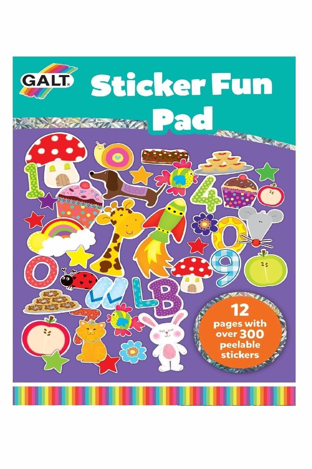 Galt Sticker Fun Pad Eğlenceli Çıkarma Defteri 3 Yaş+