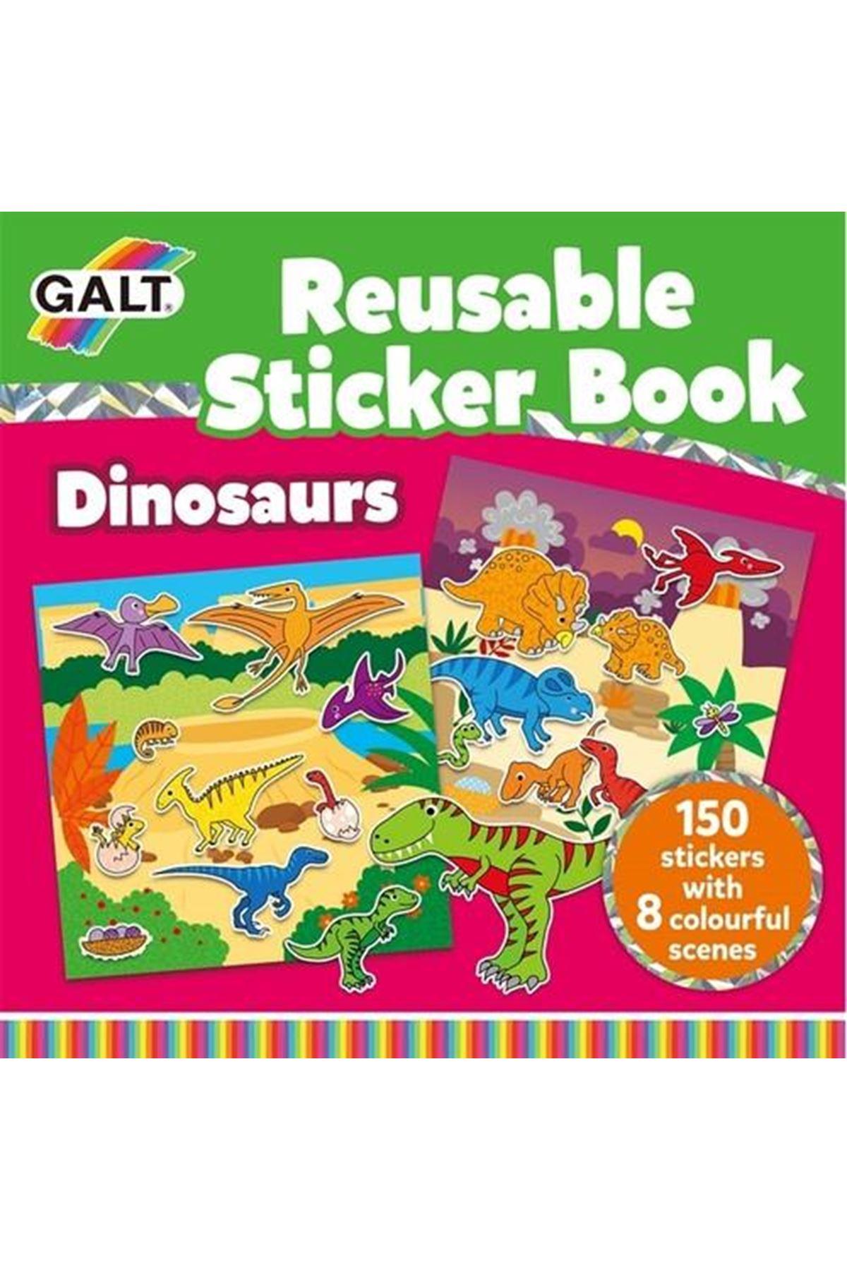 Galt Reusable Sticker Book Dinosaurs 3 Yaş+