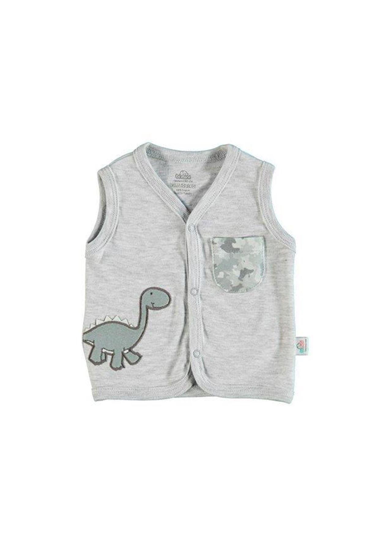 Bibaby Bimini Dinosaur Yelek 61258 Gri