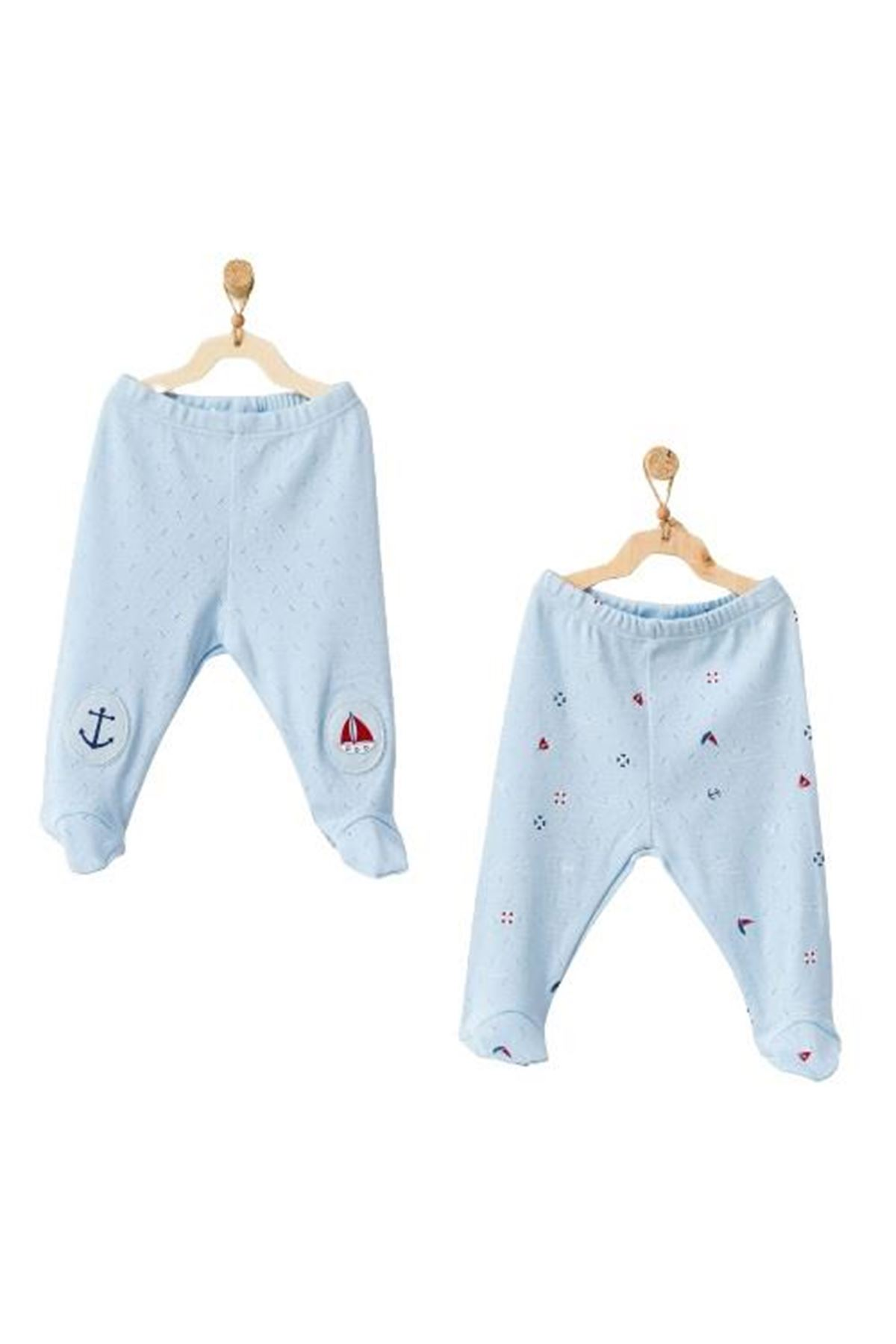 Andywawa AC21604 The Seaside Life 2li Patikli Bebe Pantolon Blue
