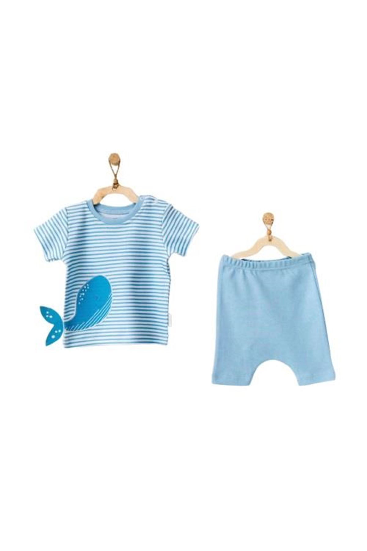 Andywawa AC21564 Cute Whale 2li Bebek Takım Blue