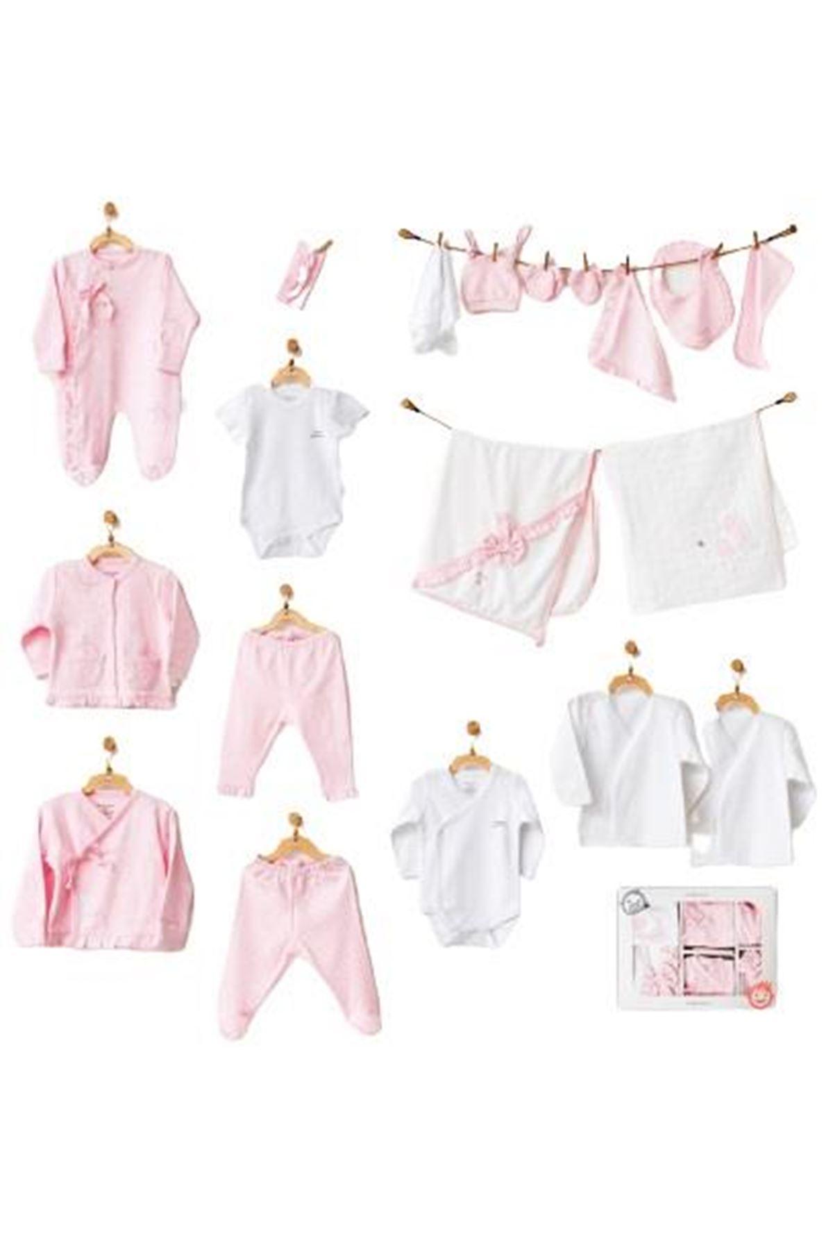 Andywawa AC21792 Milly Ballet Newborn 20 Parça Zıbın Seti Pink
