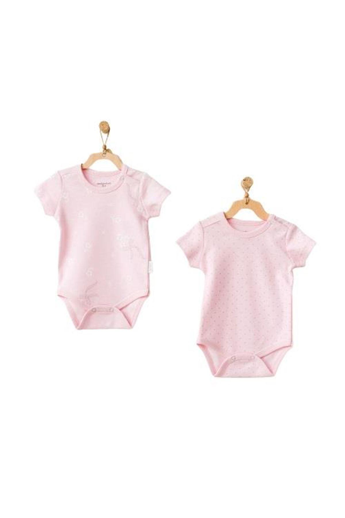 Andywawa AC21805 Milly Ballet 2li Bebek Body Pink