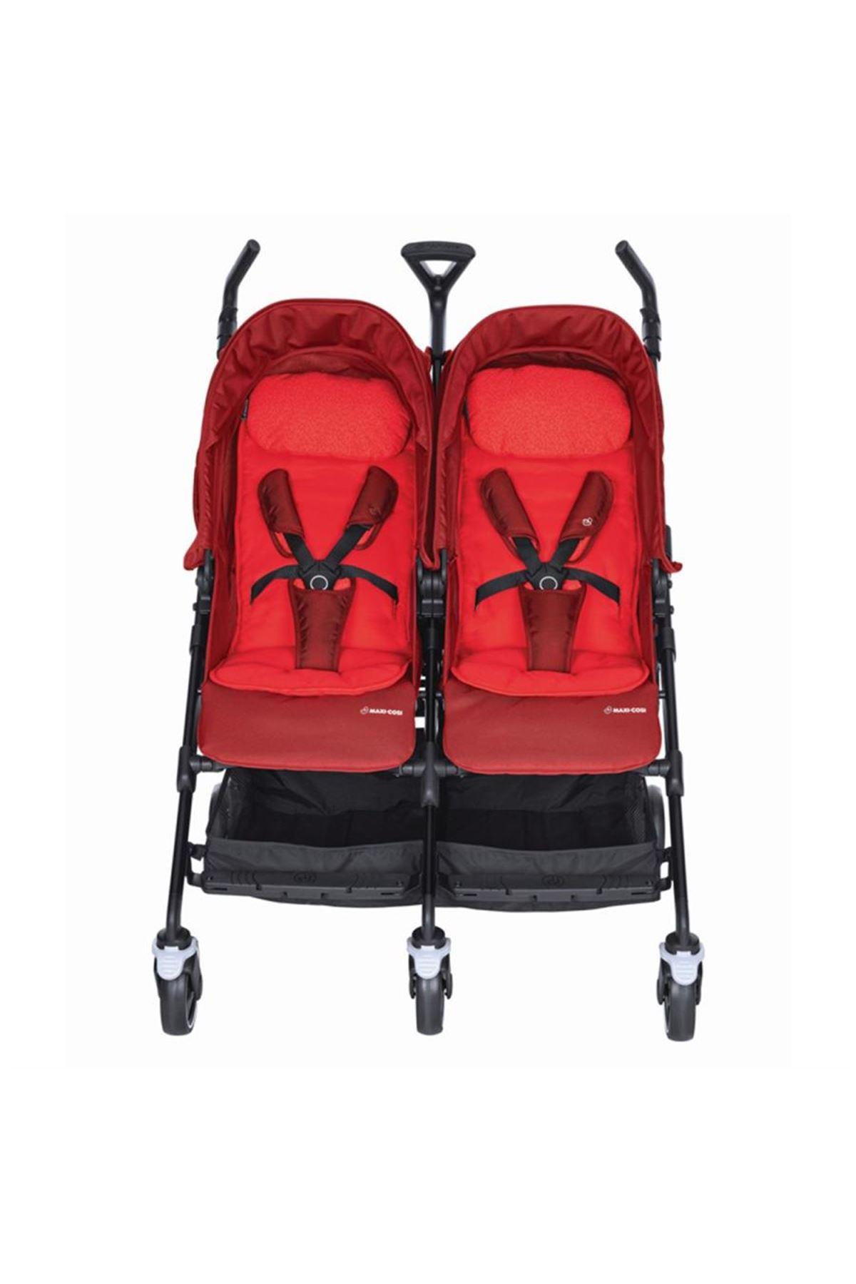Maxi-Cosi Dana For2 İkiz Bebek Arabası / Vivid Red