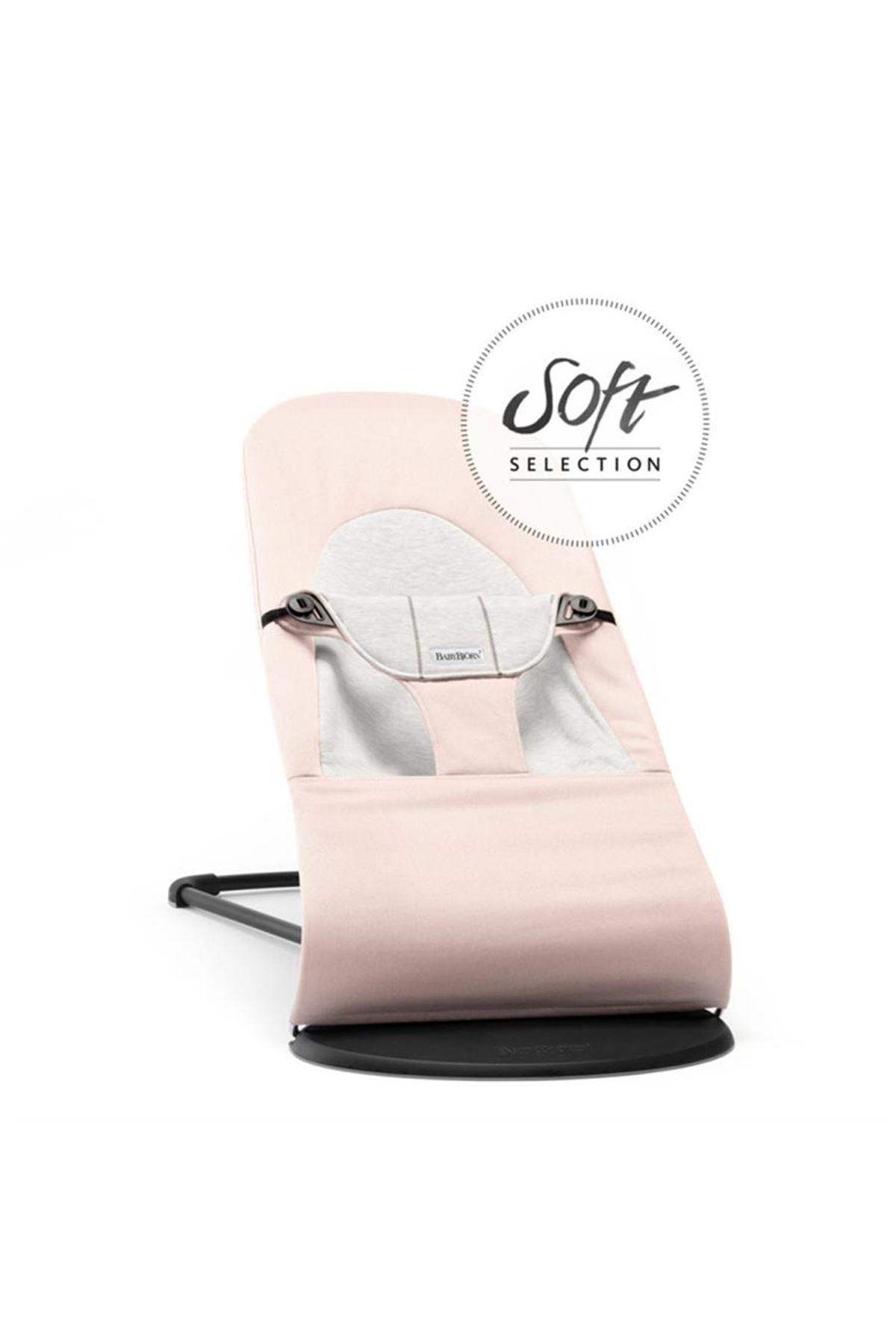 BabyBjörn Balance Soft Ana Kucağı Light Pink / Grey Cotton Jersey
