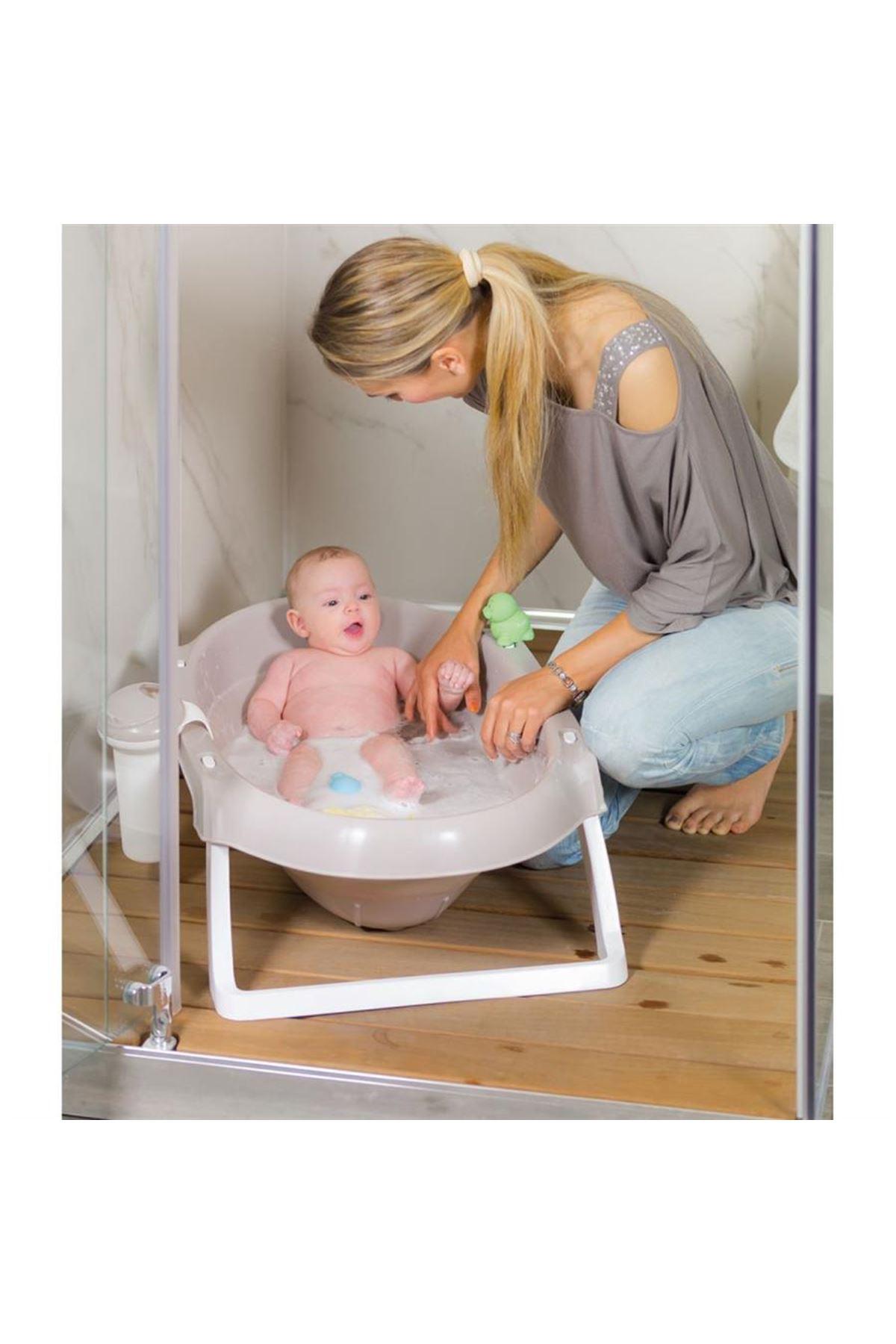 Okbaby Onda Slim Katlanır  Bebek Küveti / Beyaz