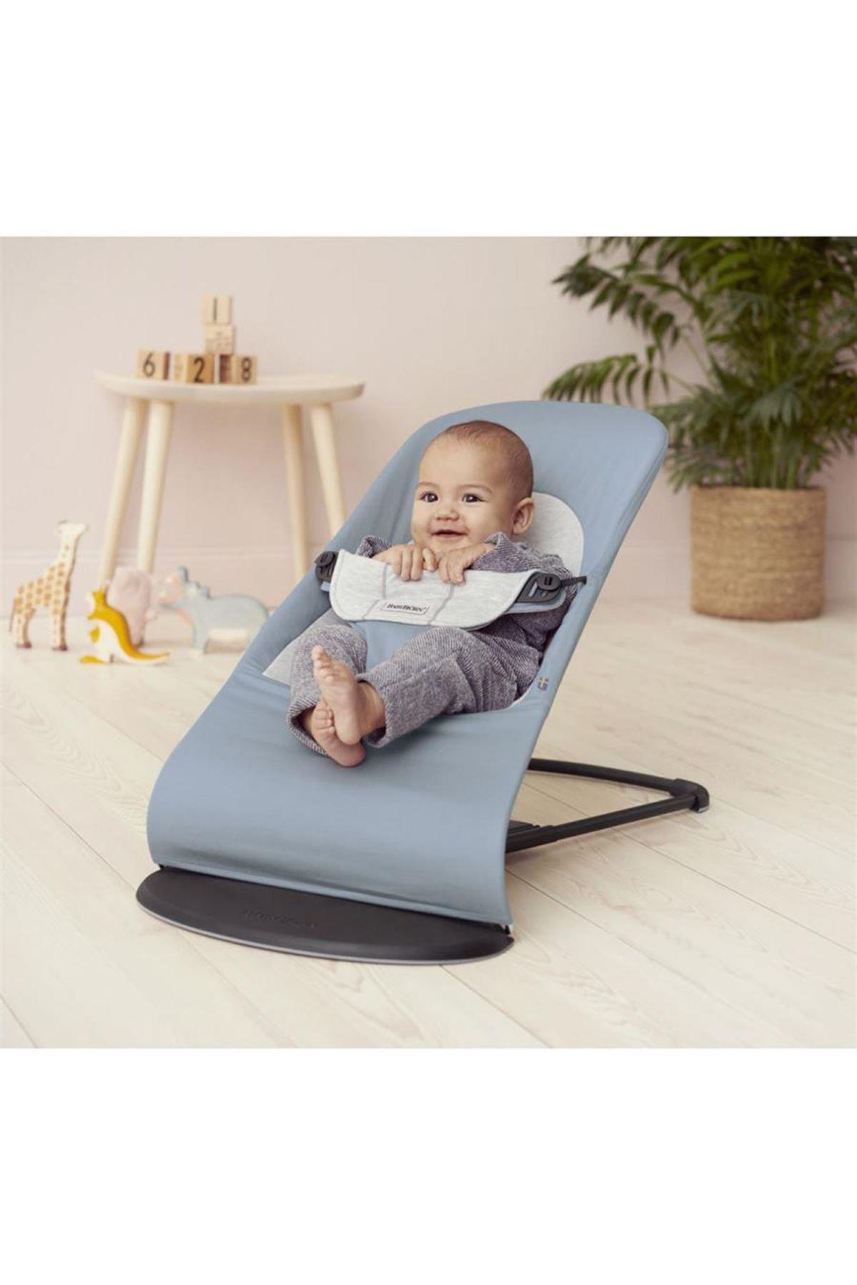 BabyBjörn Balance Soft Ana Kucağı Cotton Jersey / Blue Grey